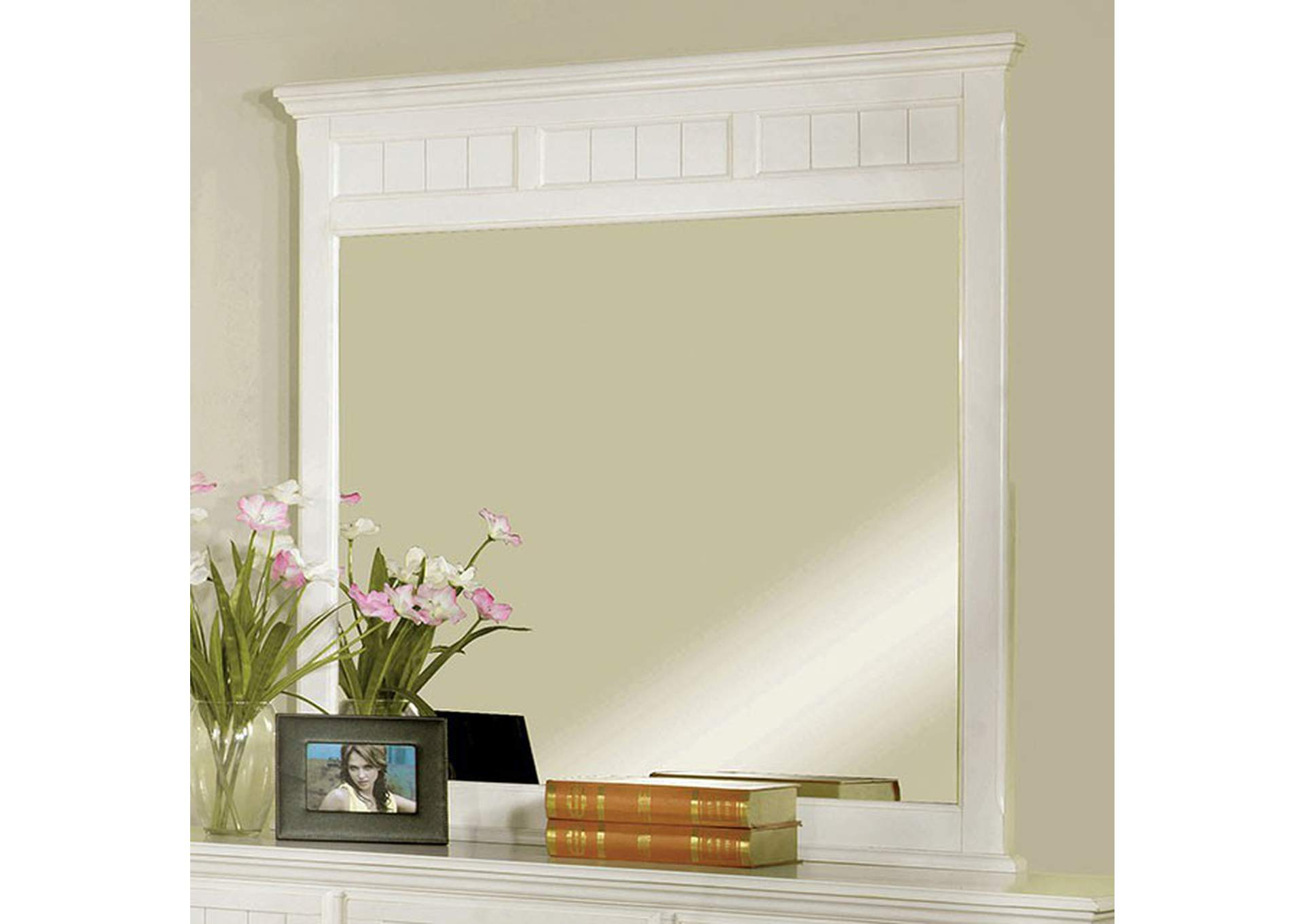 Willow Creek White Mirror,Furniture of America