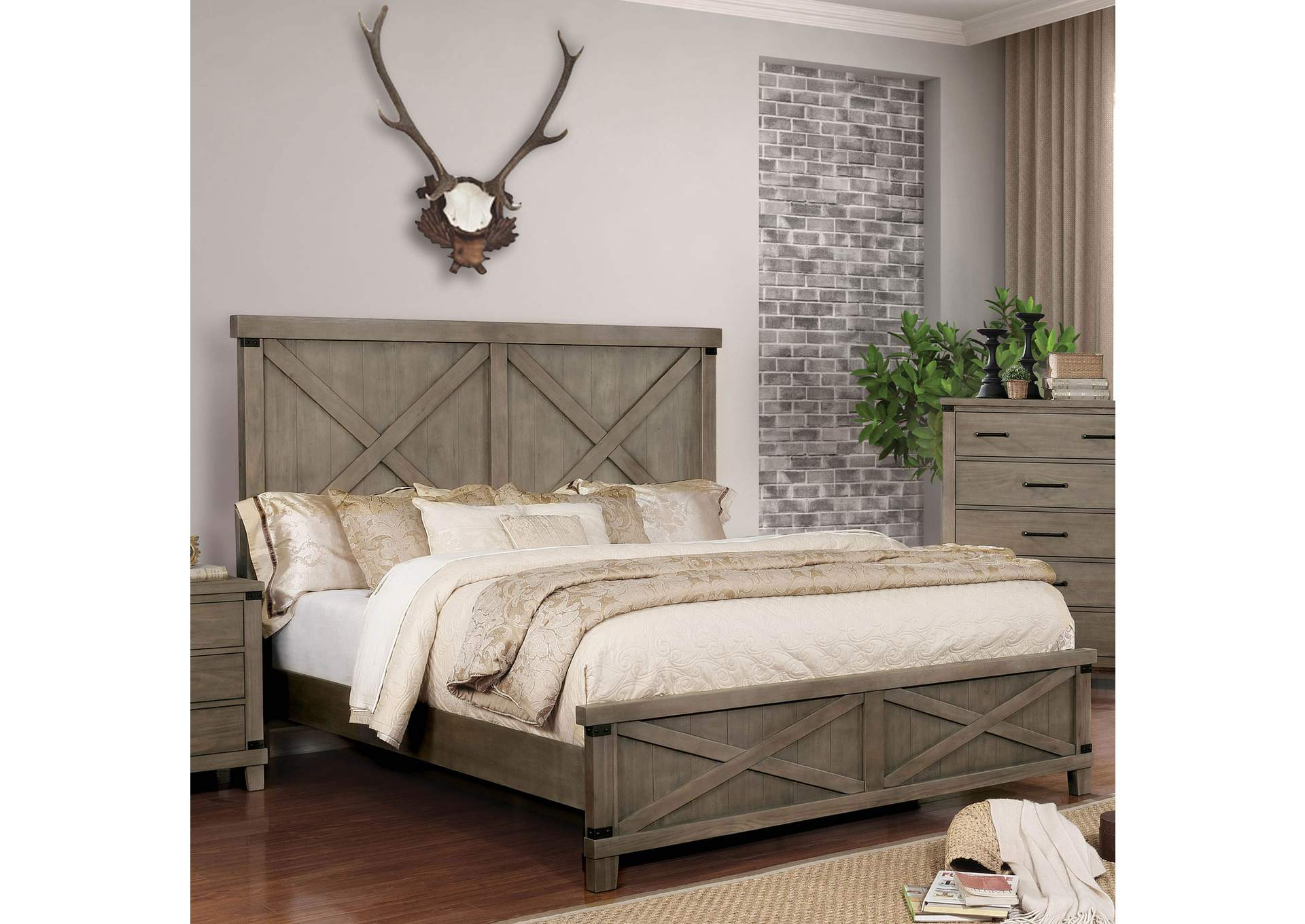 Bianca Gray California King Bed,Furniture of America