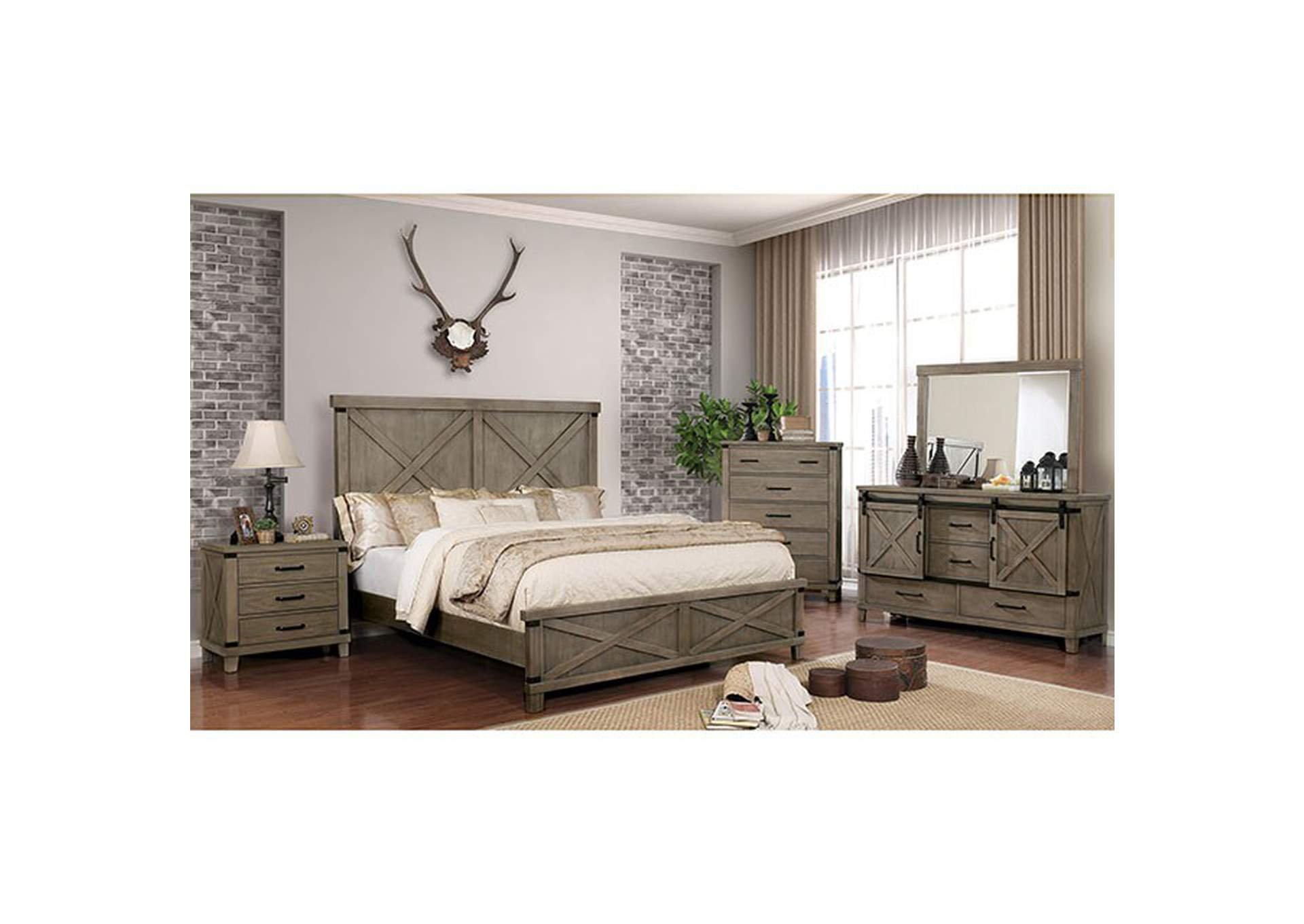 Bianca Gray Nightstand,Furniture of America