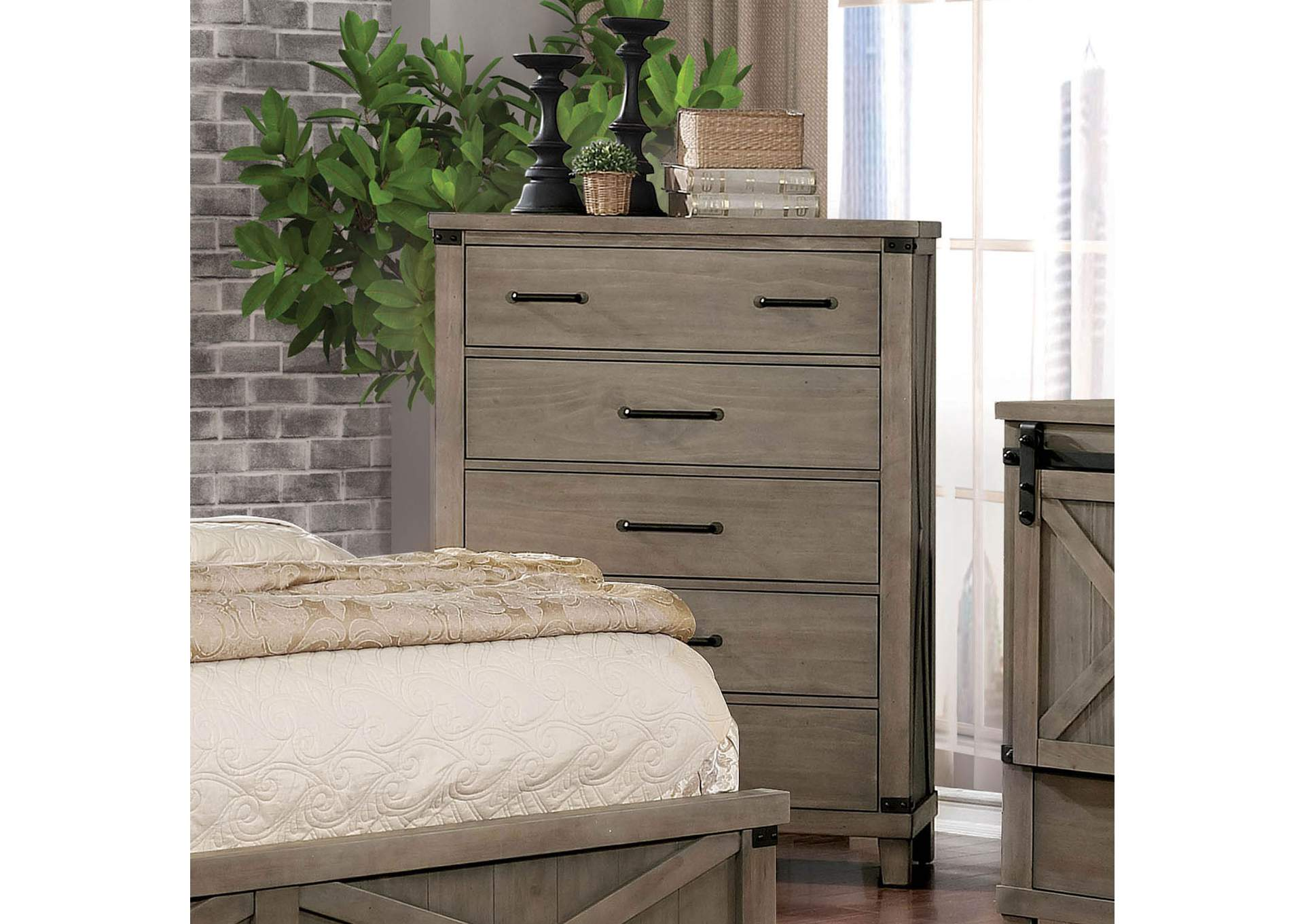 Bianca Gray Chest,Furniture of America