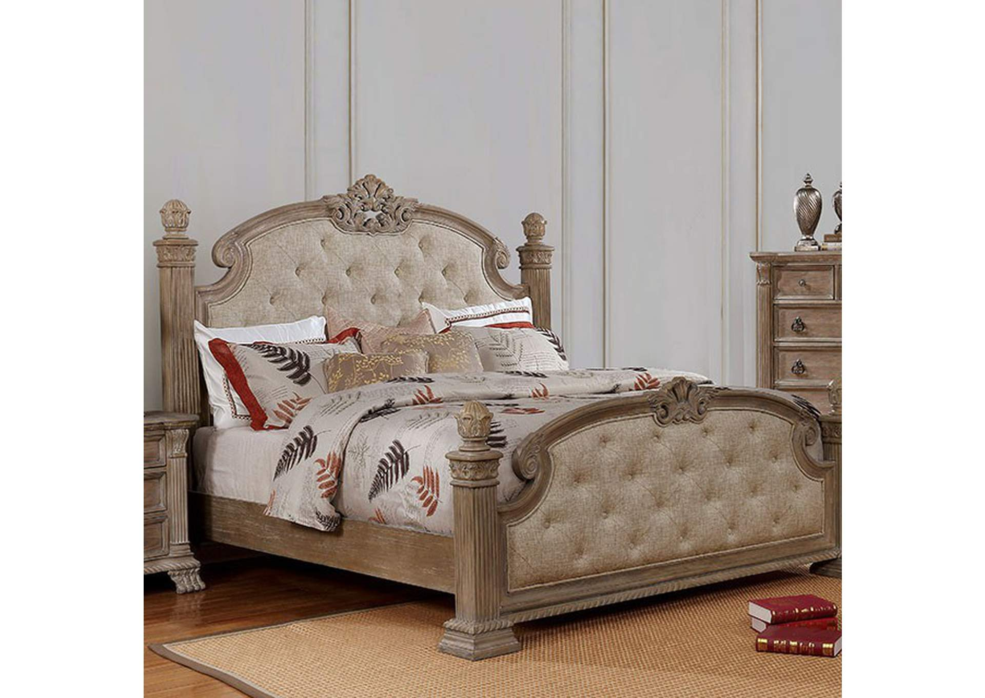 Montgomery Rustic Natural Queen Bed,Furniture of America