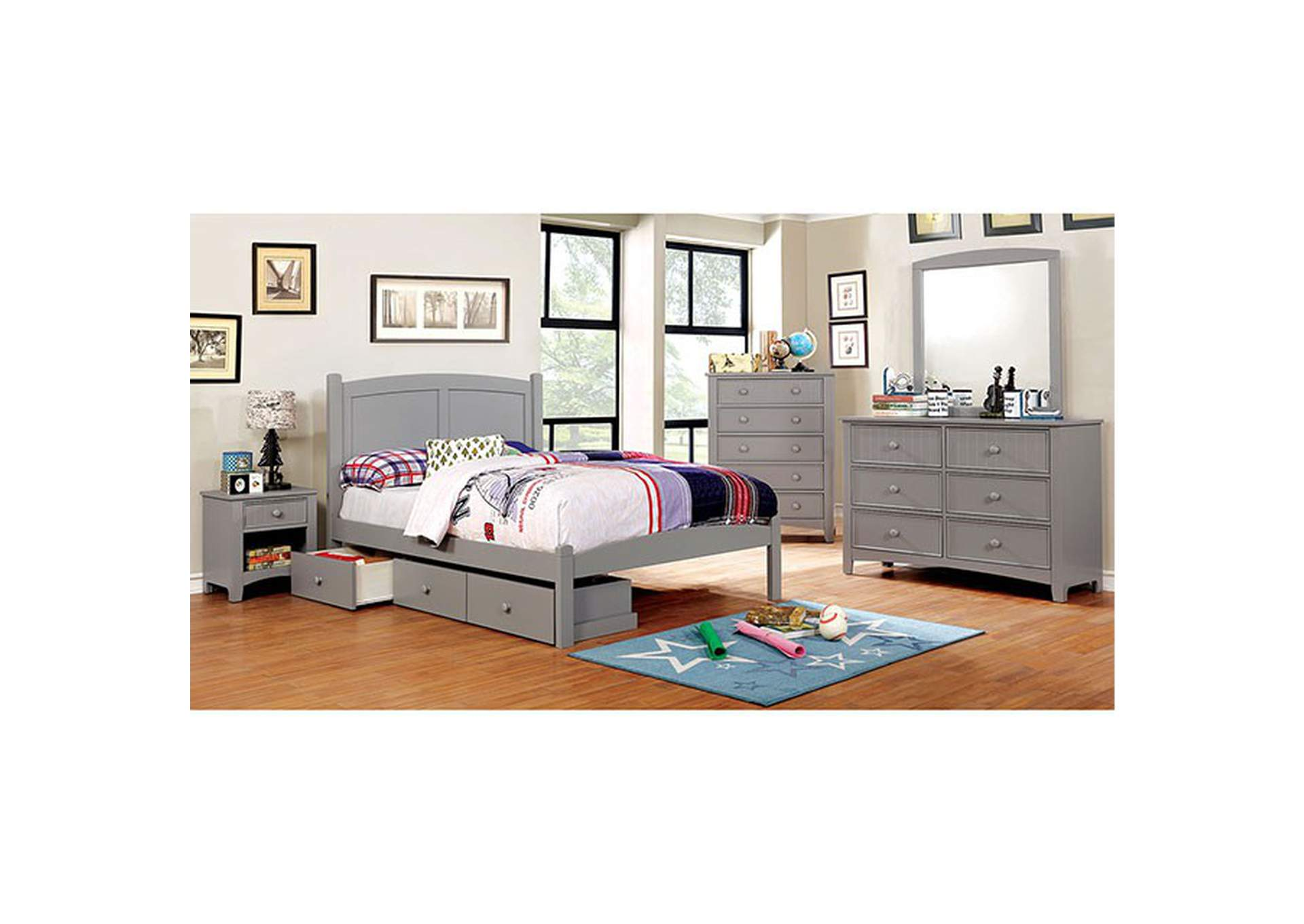 Omnus Gray DRAWERS,Furniture of America