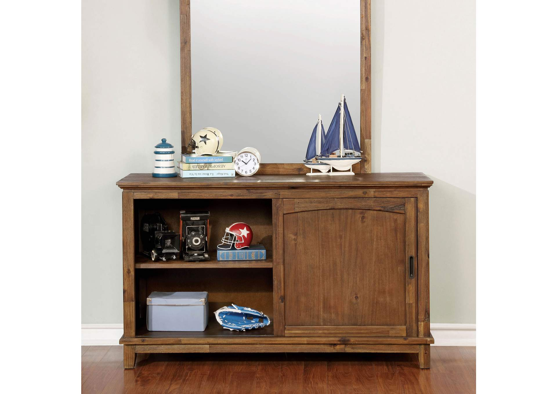 Colin Dark Oak Dresser,Furniture of America