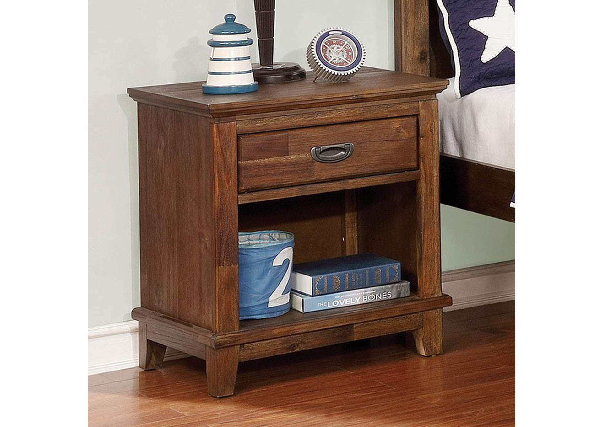 Colin Dark Oak Night Stand,Furniture of America