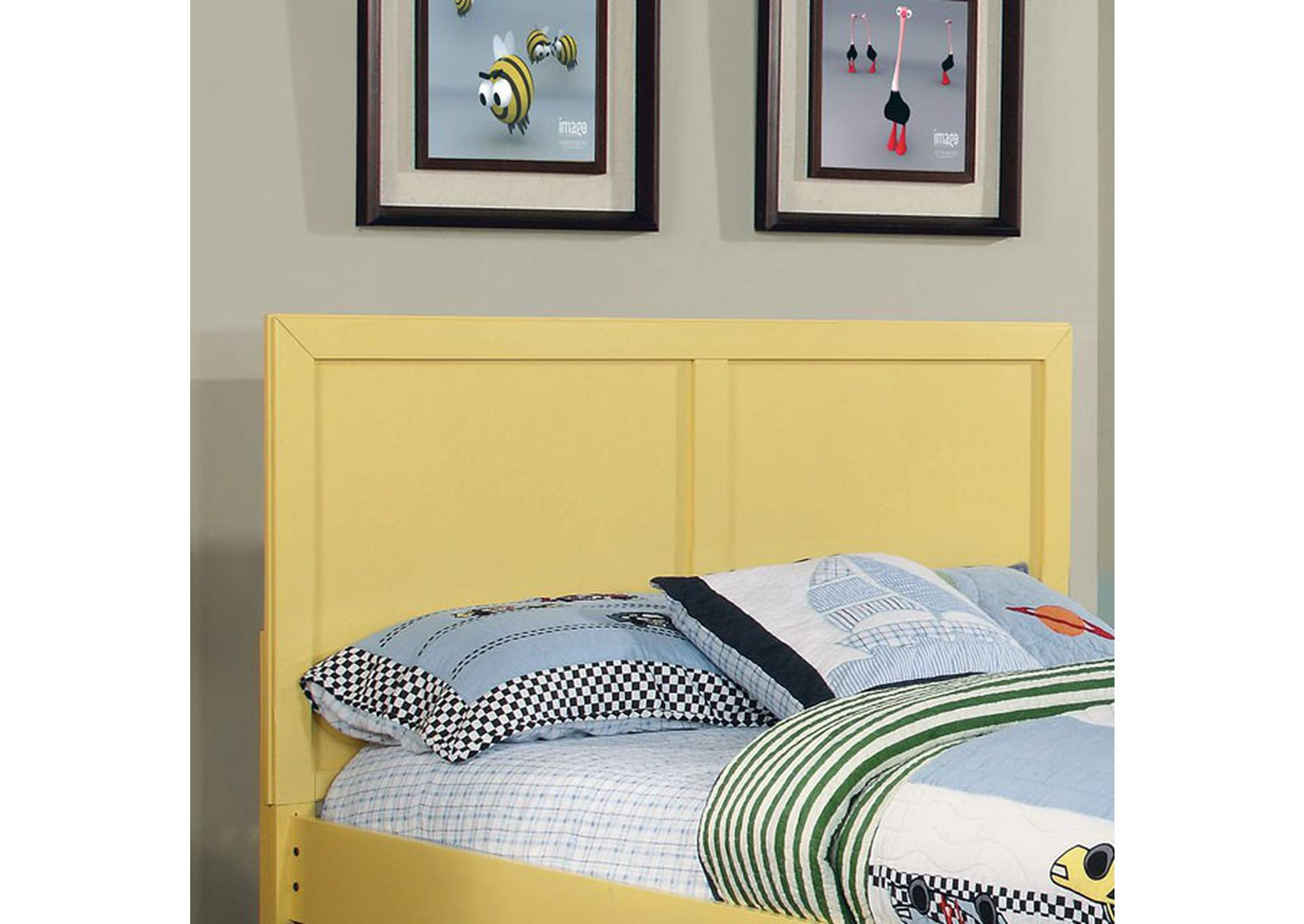 Prismo Yellow Queen Headboard,Furniture of America