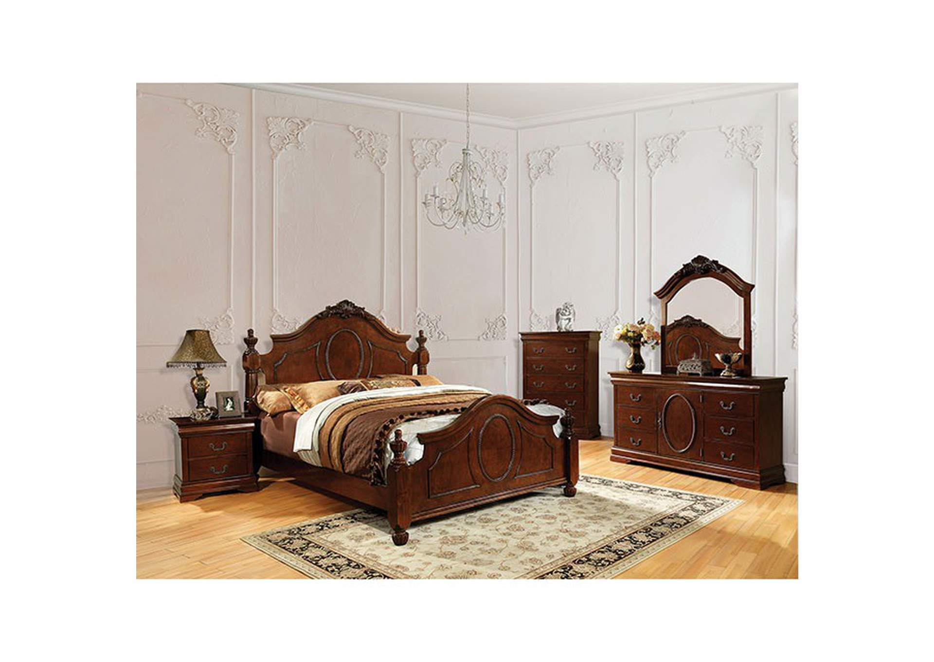 Velda II Queen Poster Bed,Furniture of America