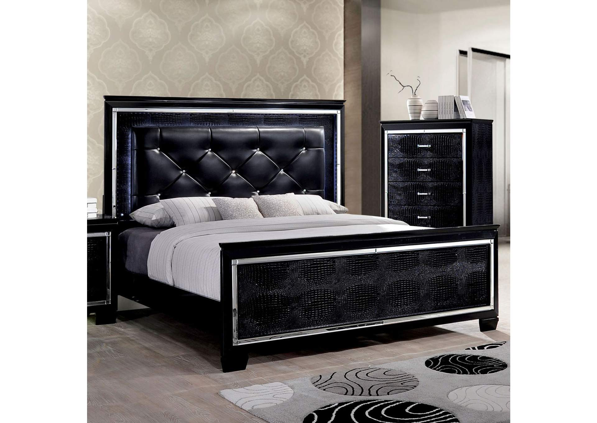 Bellanova Black Queen Bed,Furniture of America