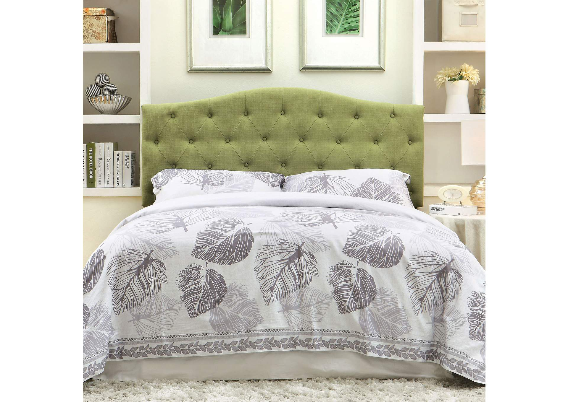 Alipaz Green Queen Headboard,Furniture of America