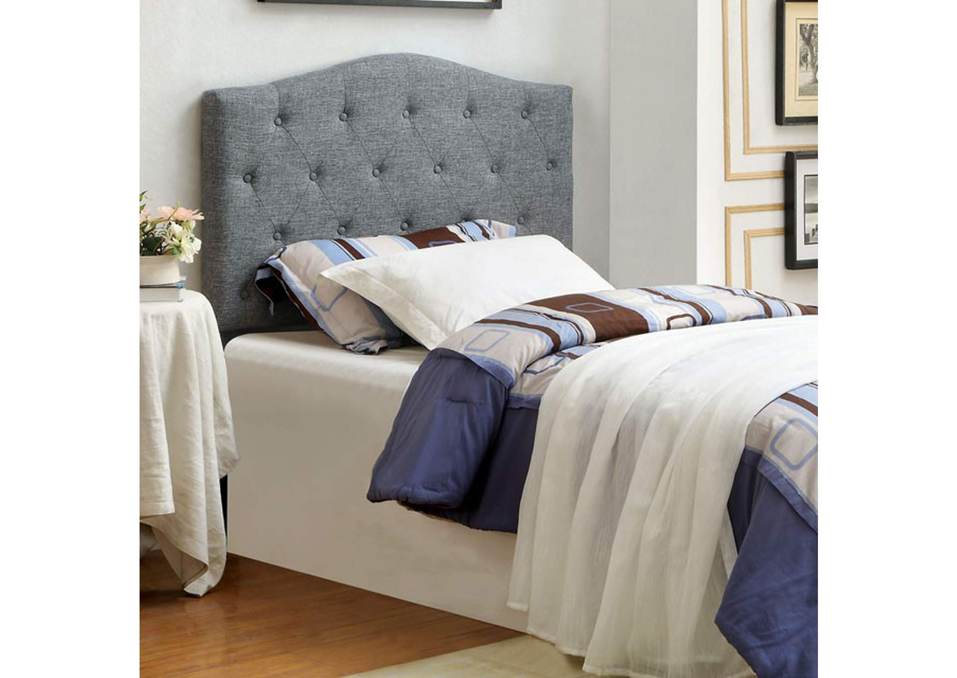 Alipaz Grey Queen Headboard,Furniture of America