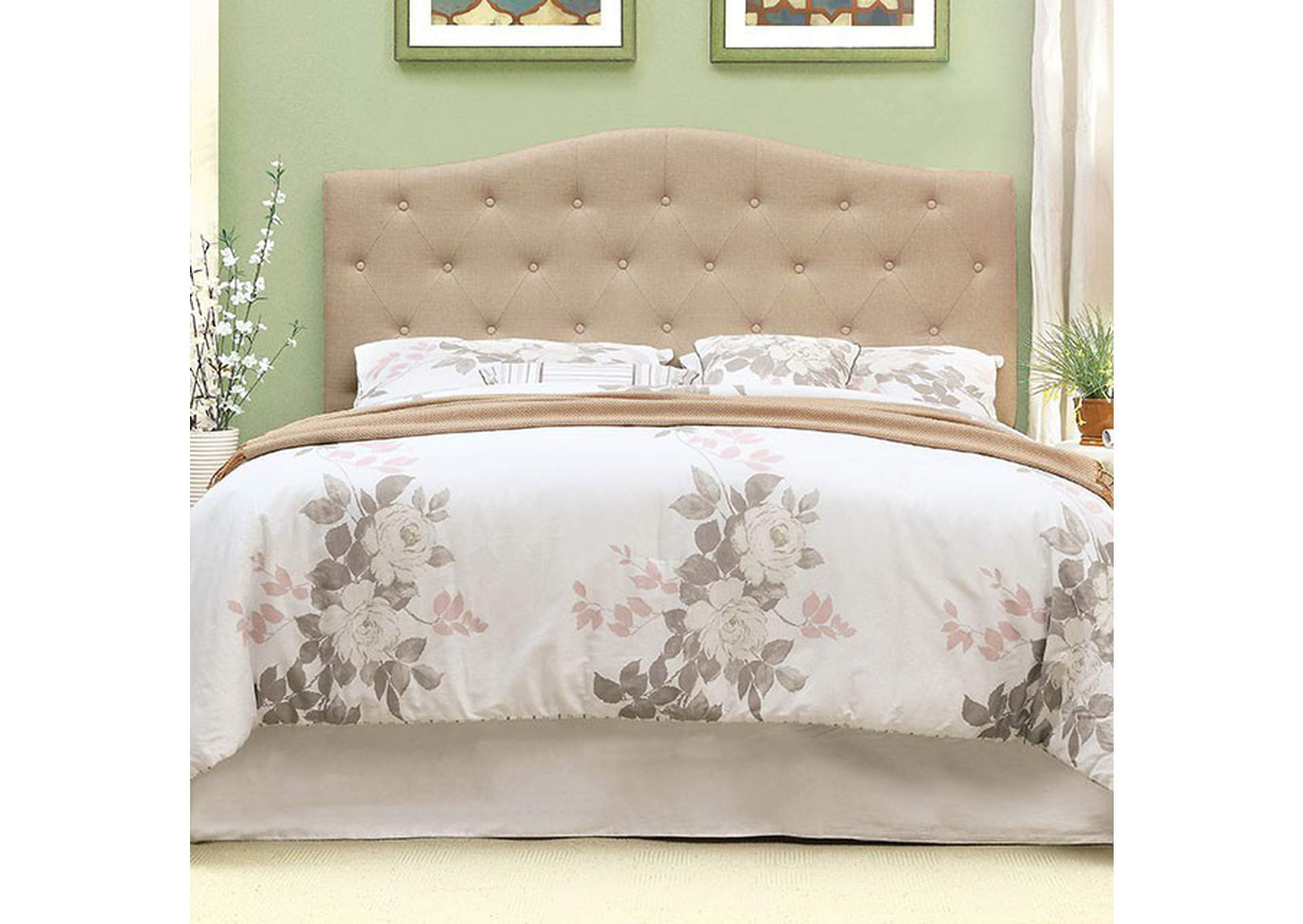Alipaz Ivory Queen Headboard,Furniture of America