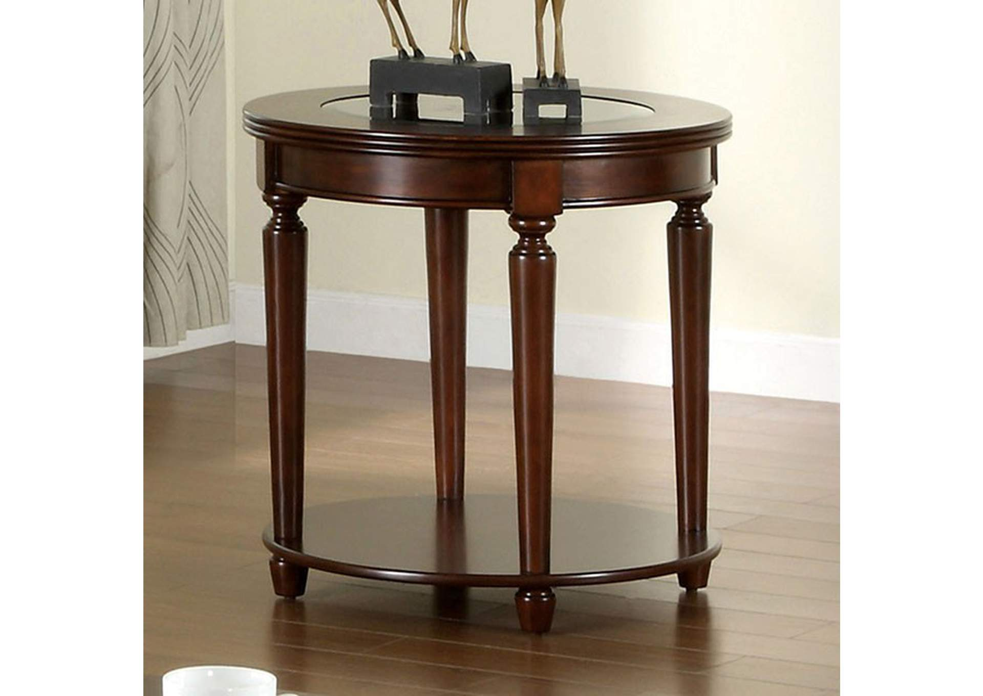 Granvia Dark Cherry End Table,Furniture of America