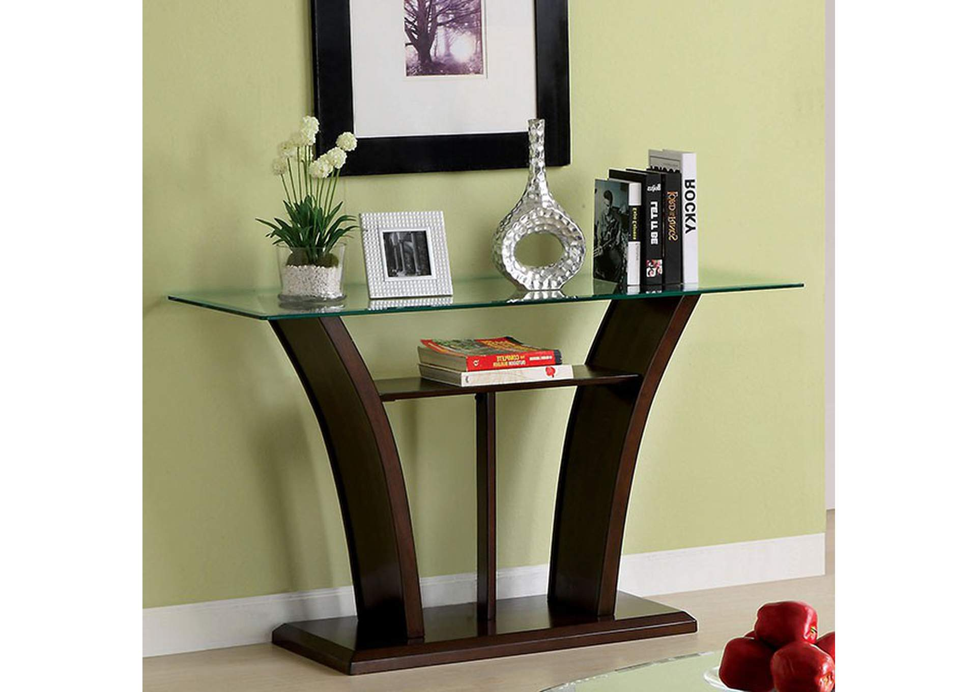 Manhattan Brown Cherry Sofa Table,Furniture of America