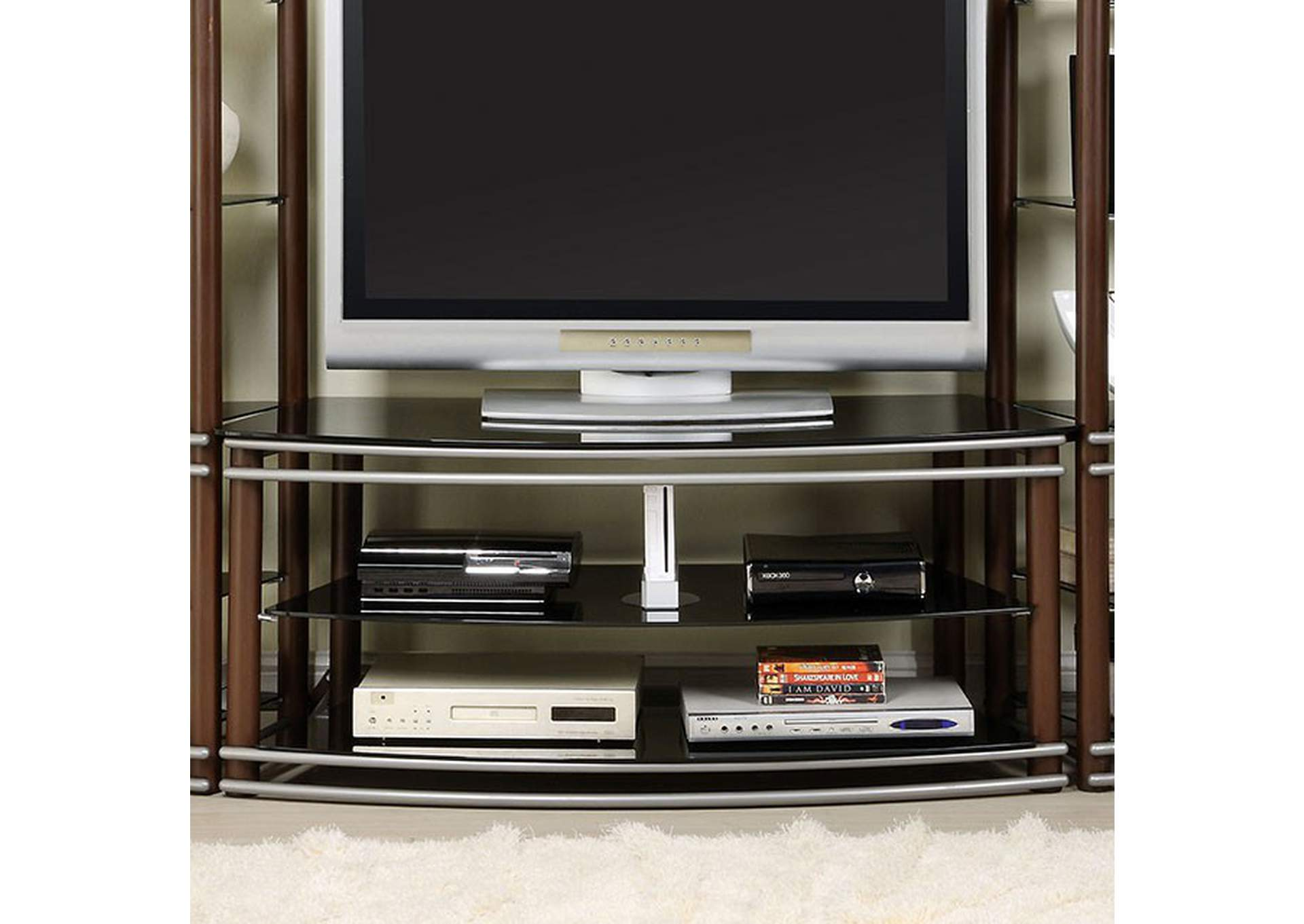 Silver Creek Brown TV Console,Furniture of America
