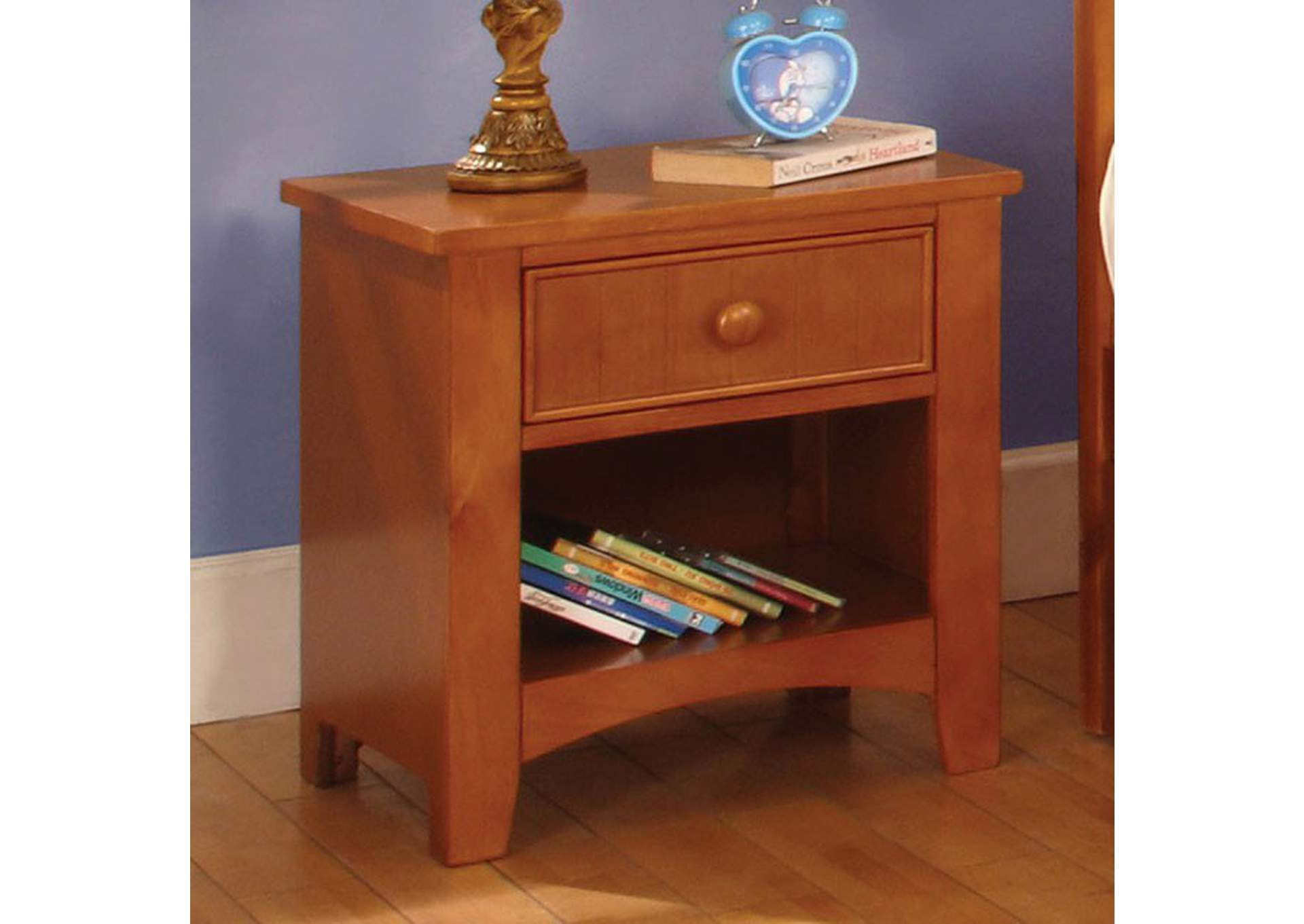 Omnus Oak Nightstand,Furniture of America
