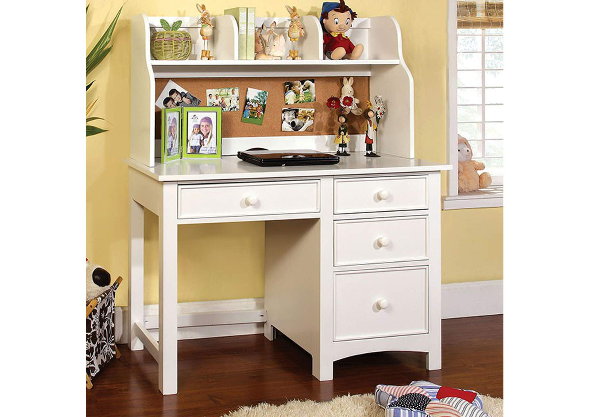 Omnus White Desk,Furniture of America