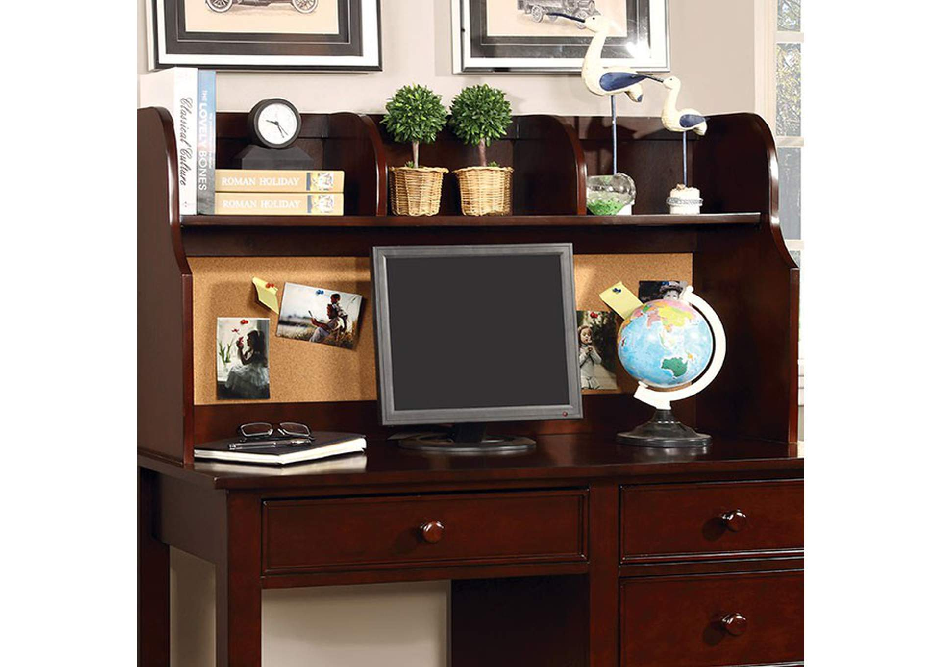 Omnus Cherry Desk Hutch,Furniture of America