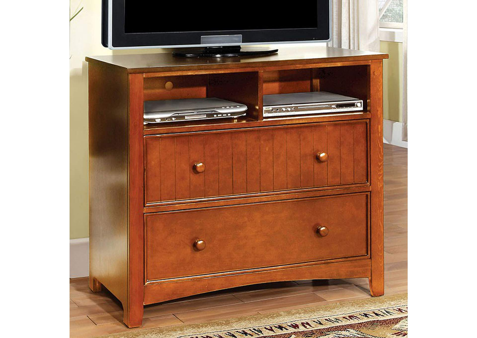 Omnus Oak Media Chest,Furniture of America