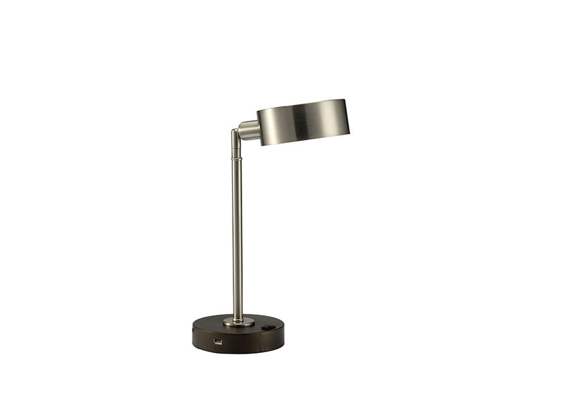 Gail Stain Nickel Table Lamp,Furniture of America