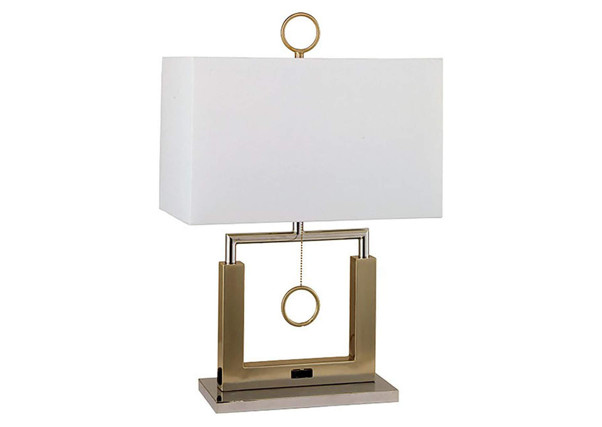 Jessica Champagne Table Lamp,Furniture of America