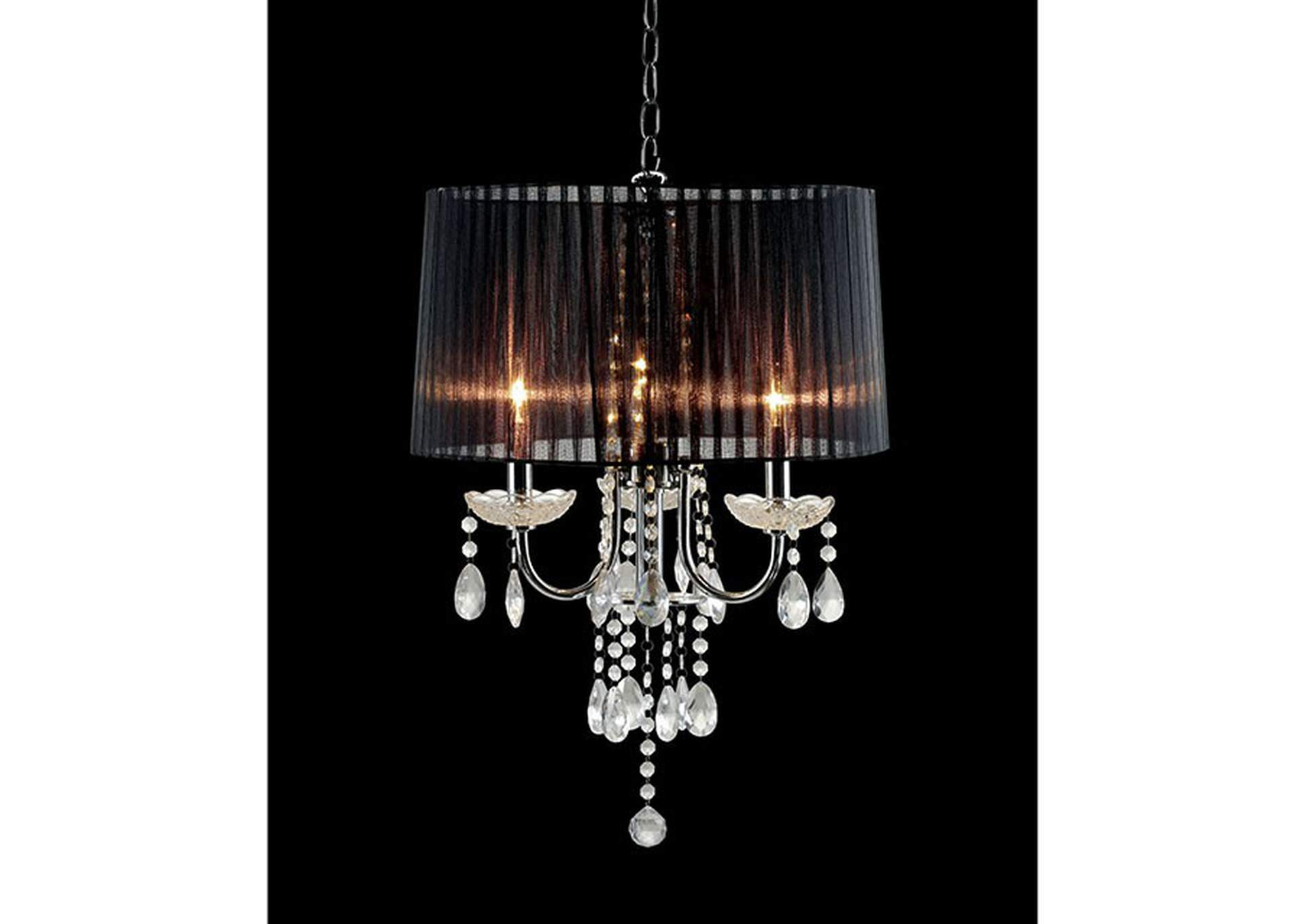 Jada Chrome Ceiling Lamp,Furniture of America