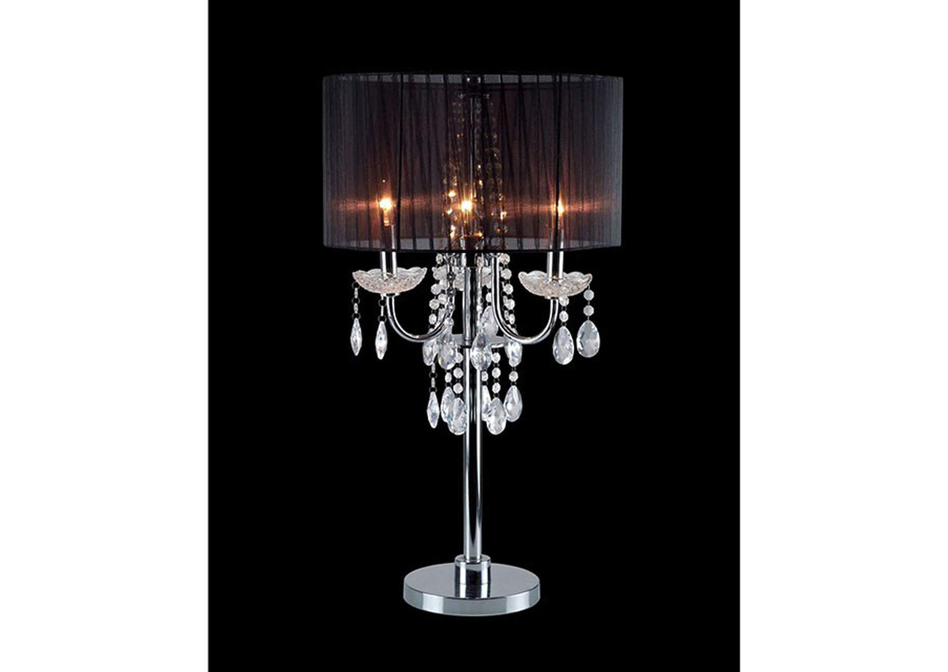 Jada Chrome Table Lamp,Furniture of America