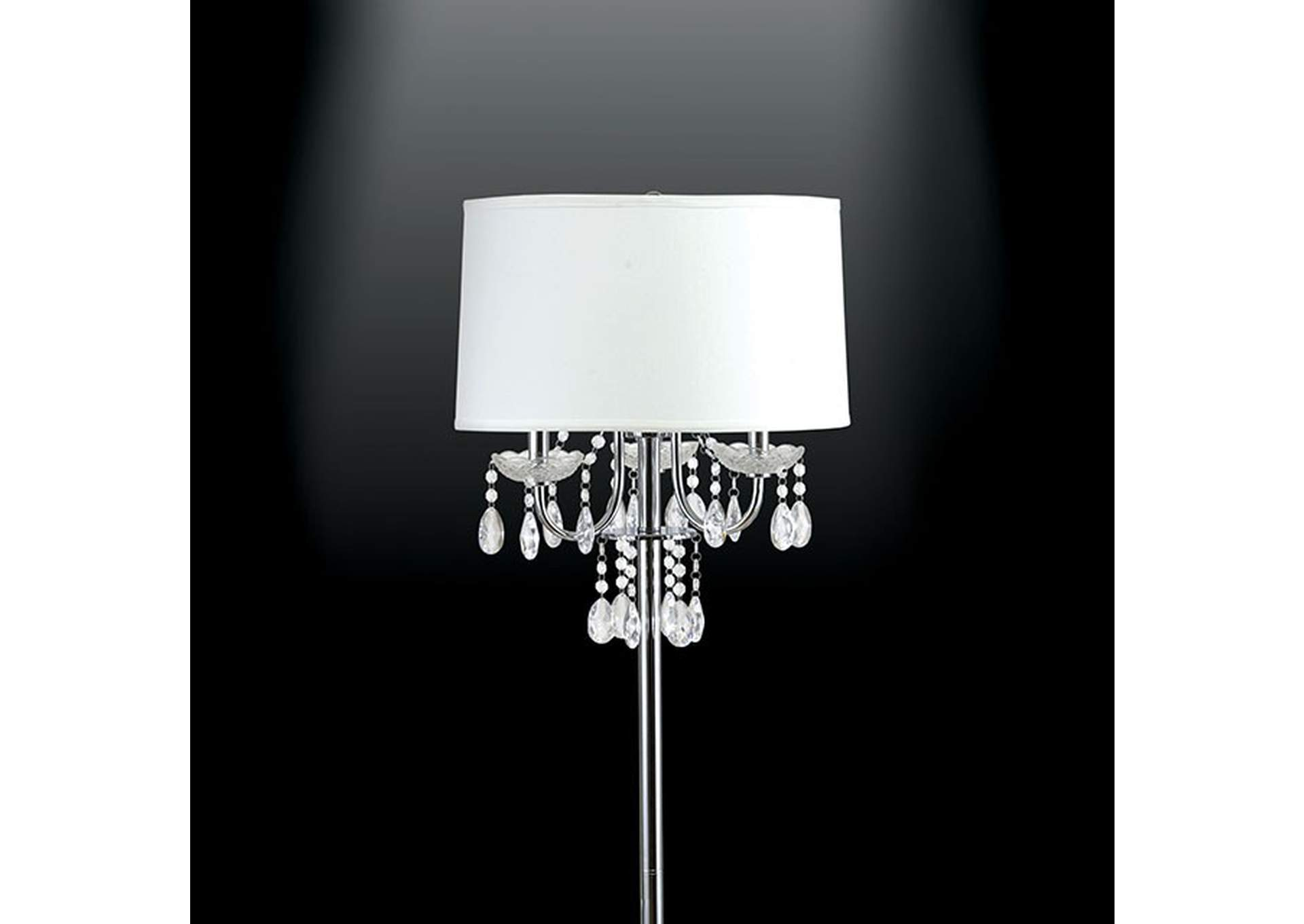 Jada Chrome Floor Lamp,Furniture of America