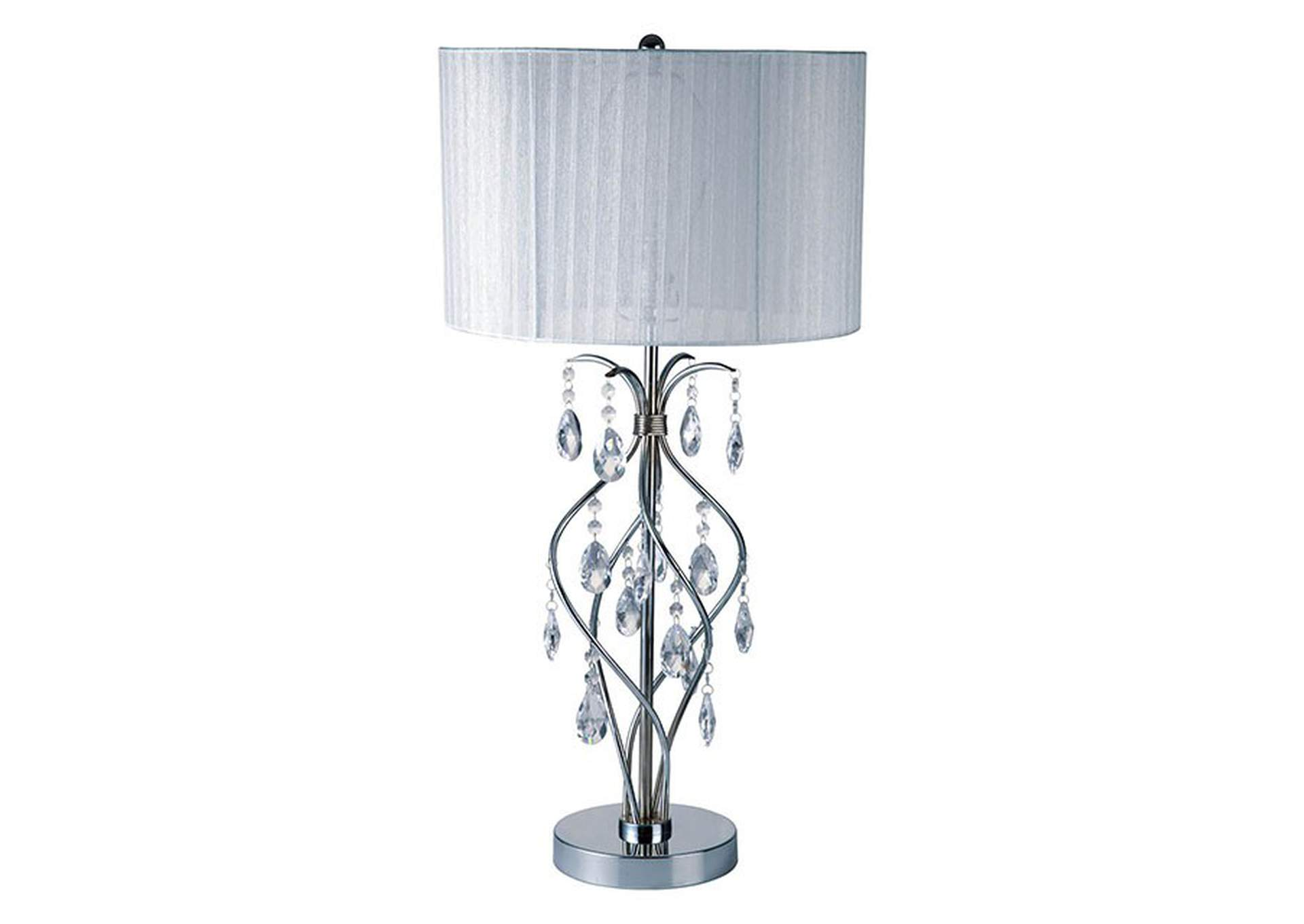 Xia White Table Lamp,Furniture of America