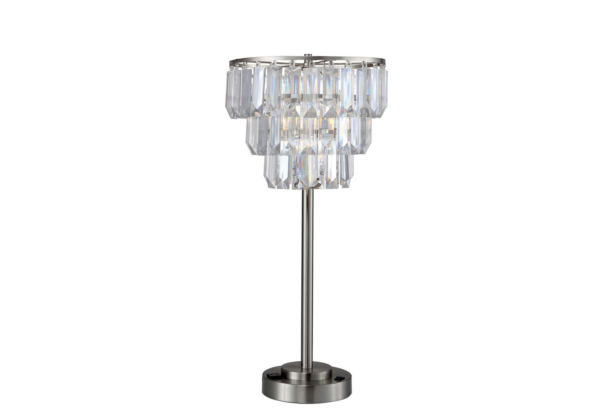 Meg Clear Table Lamp,Furniture of America