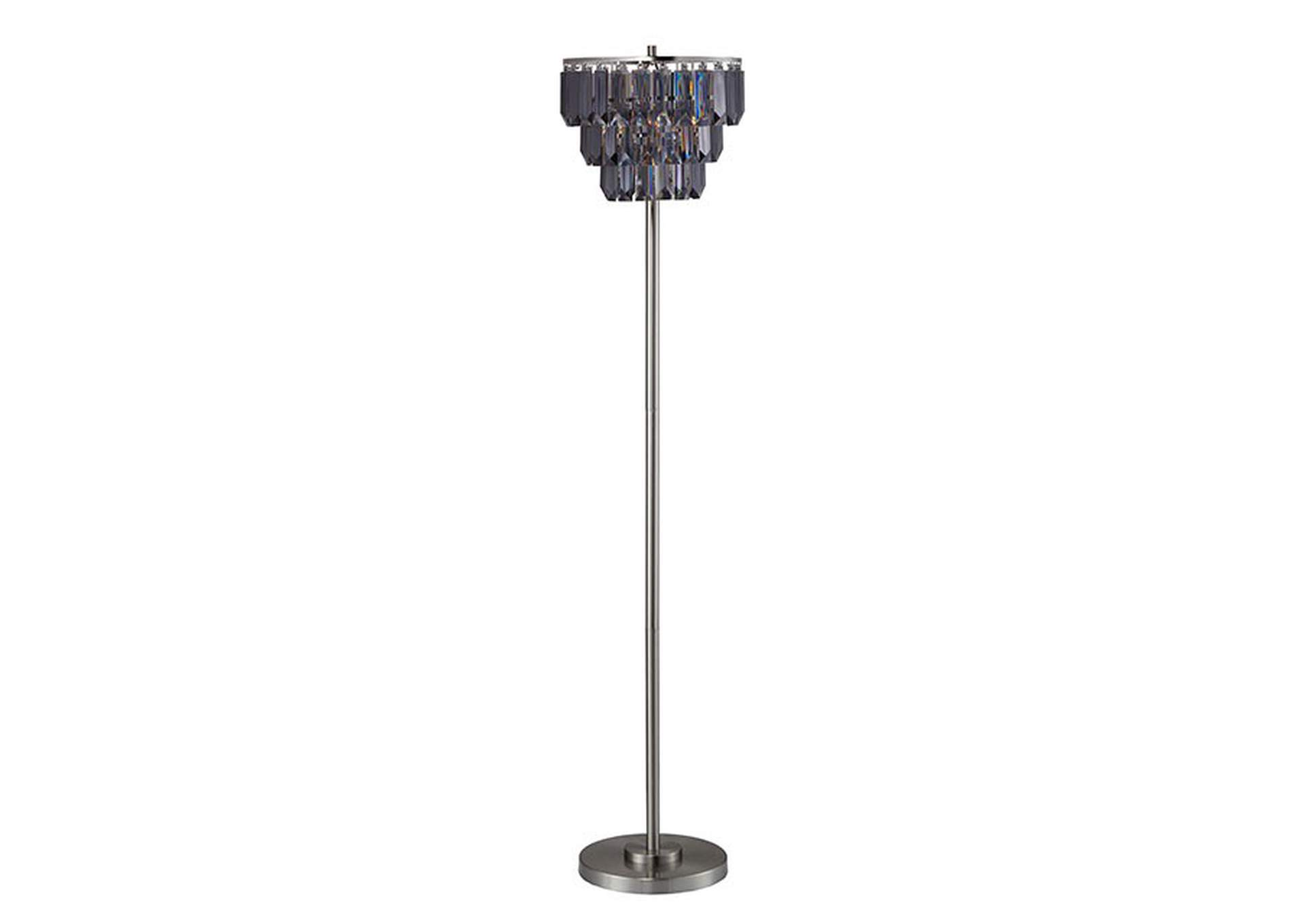 Meg Black Floor Lamp,Furniture of America