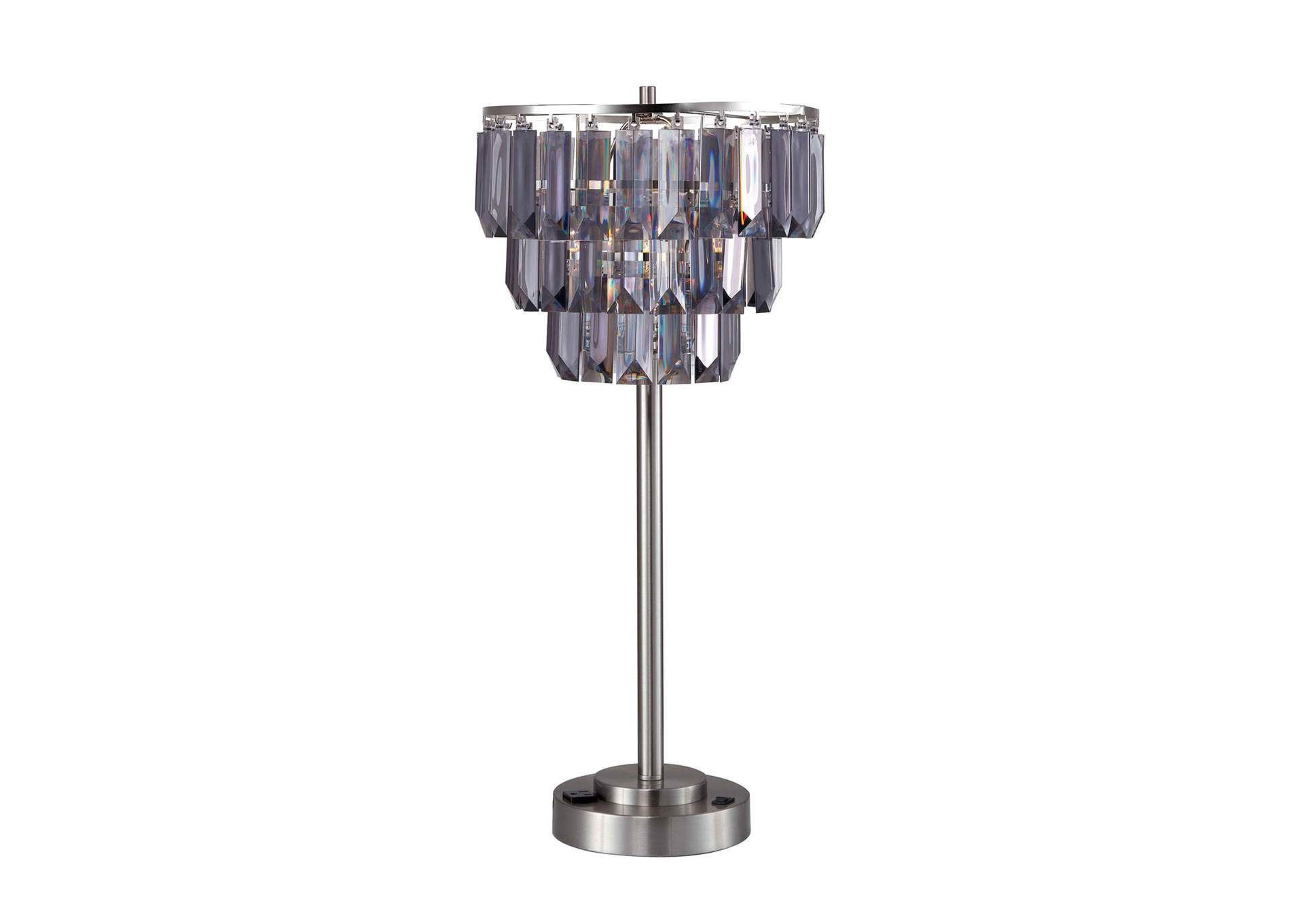Meg Black Table Lamp,Furniture of America