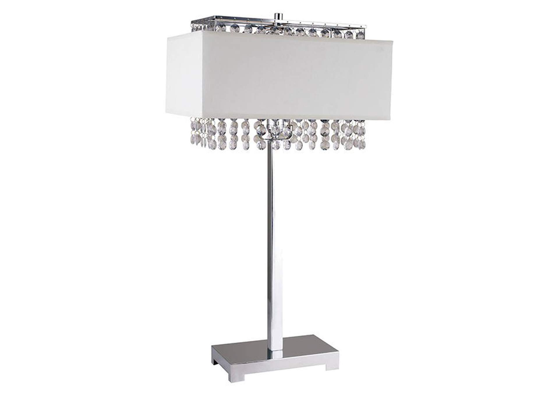 Naya Chrome Table Lamp,Furniture of America
