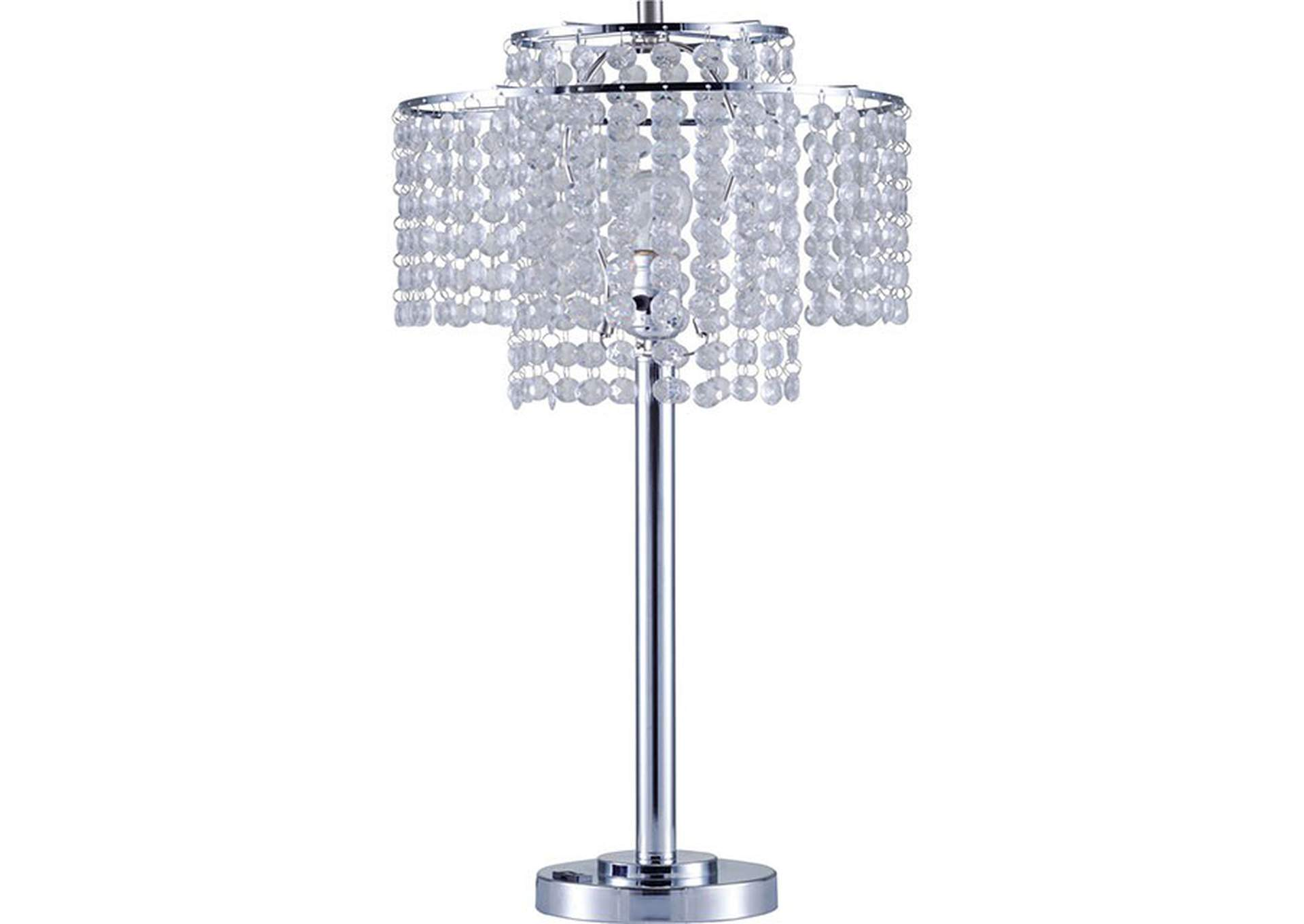 Kaitlyn Chrome Table Lamp,Furniture of America