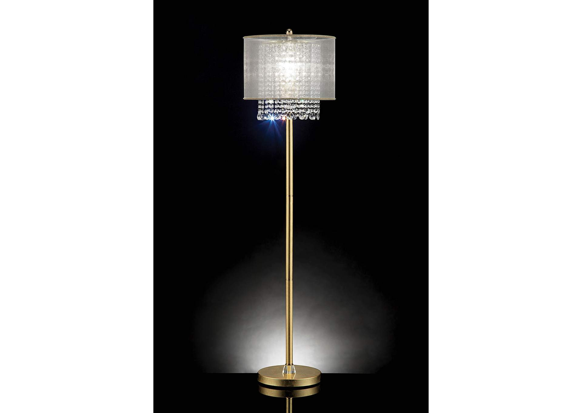 Ana Gold Floor Lamp,Furniture of America