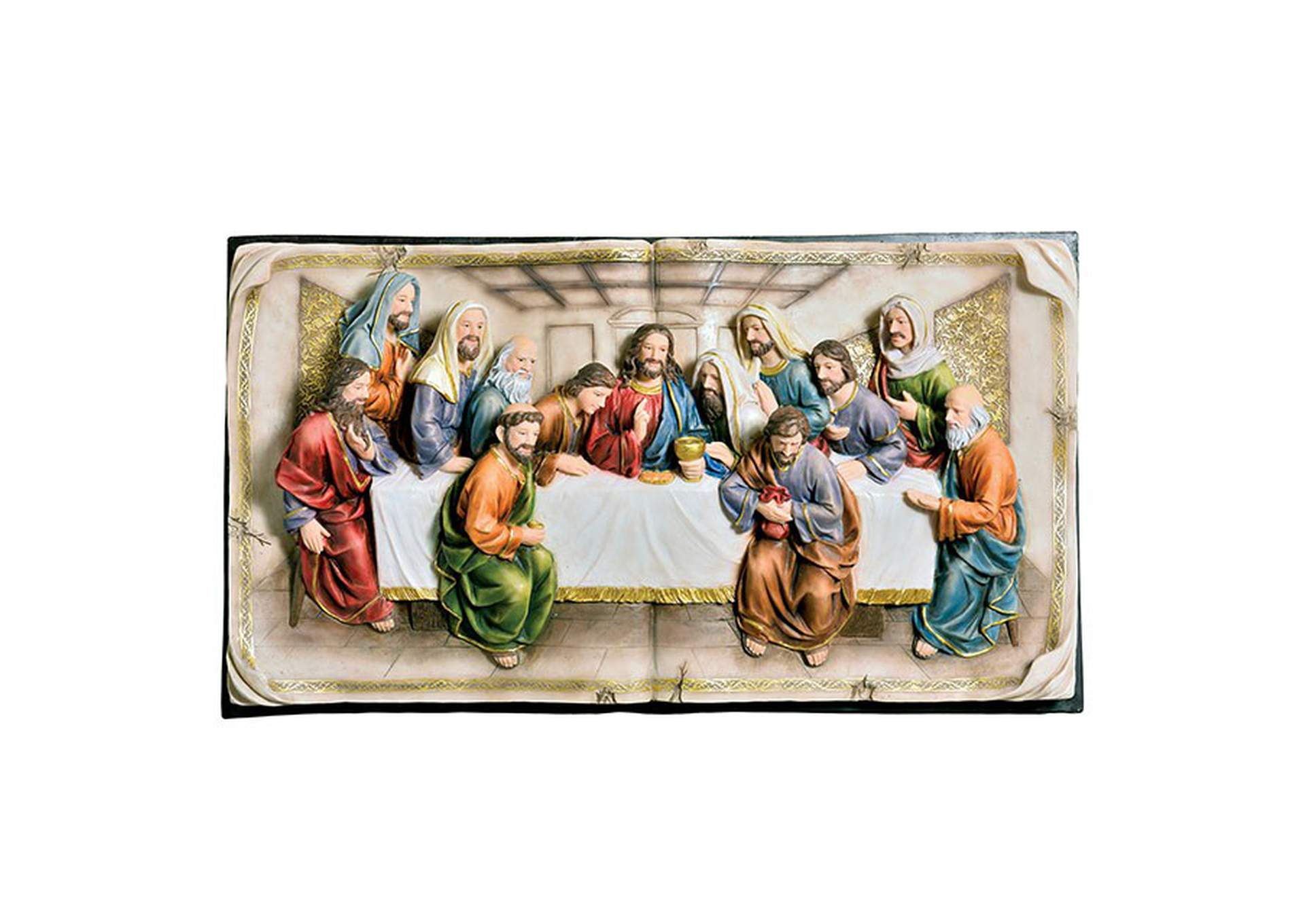 Homili Multicolor Last Supper Plaque,Furniture of America