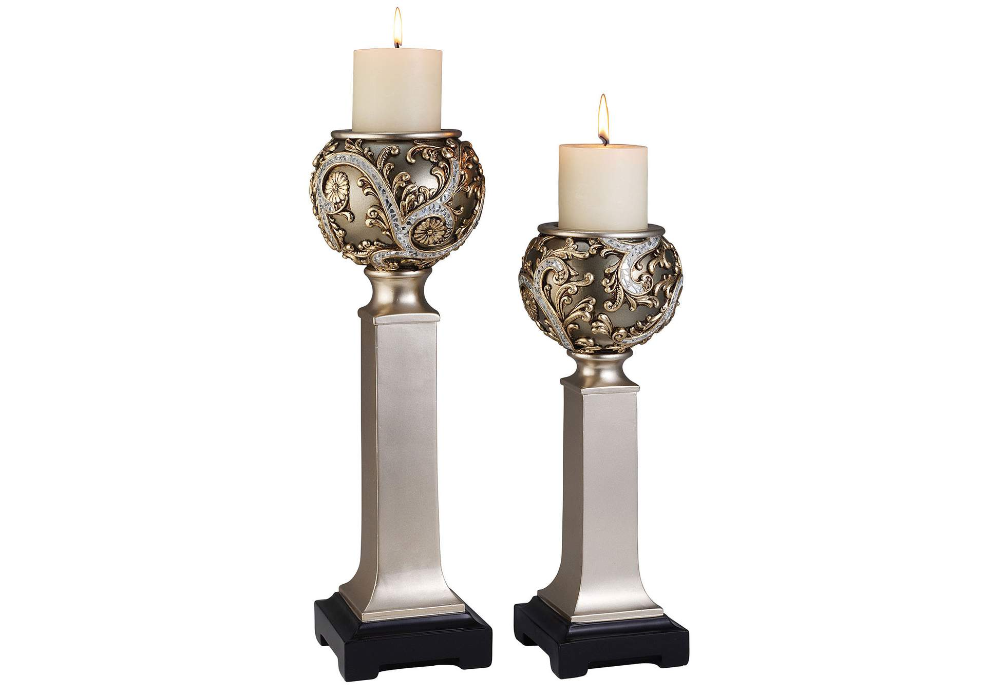 Estelle Champagne Candle Holder Set [Set of 4],Furniture of America