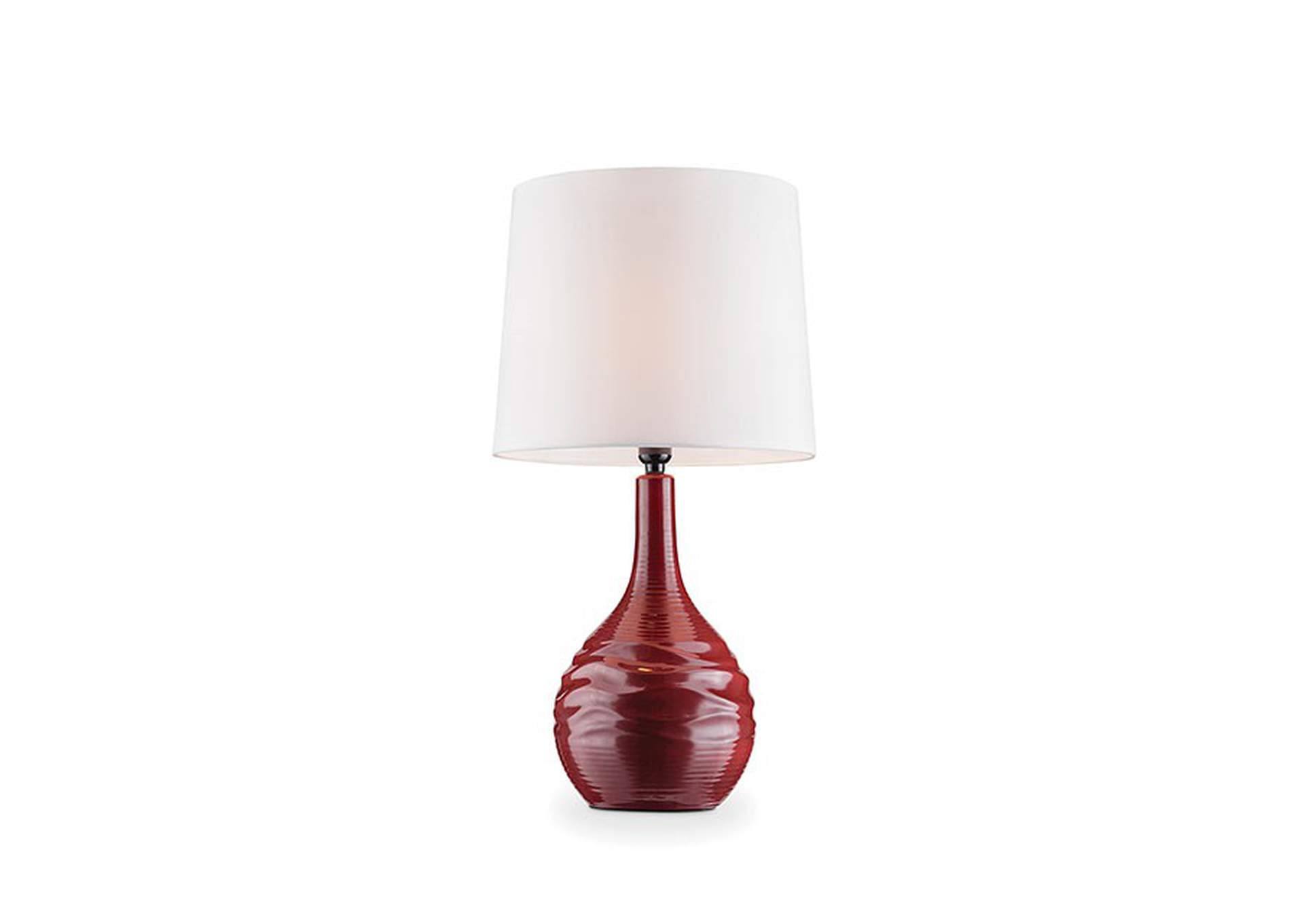 Ida Burgundy Table Lamp,Furniture of America