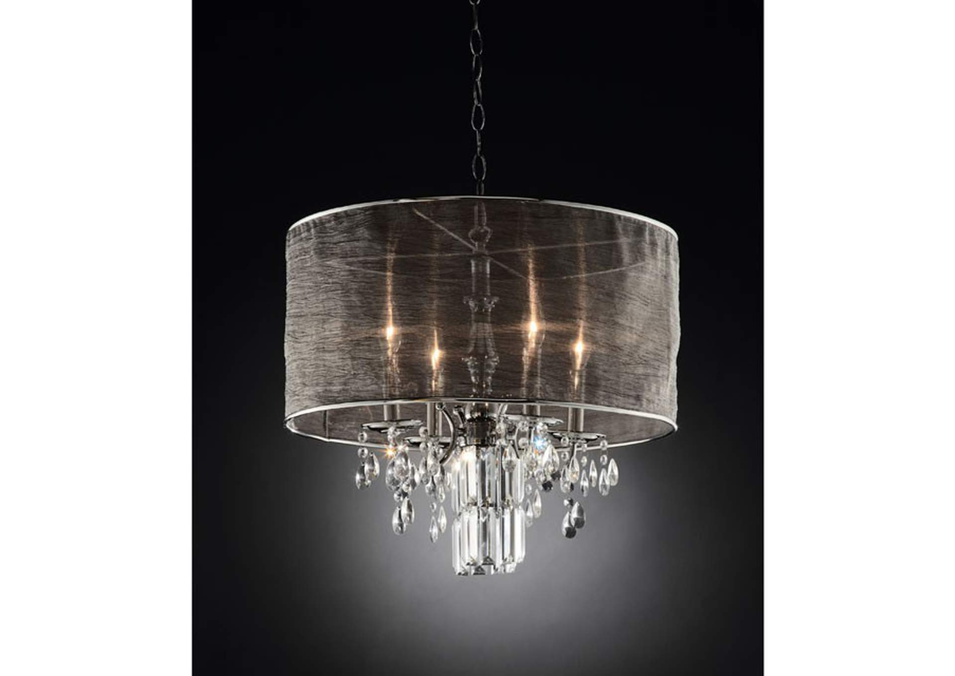 Gina Chrome Ceiling Lamp,Furniture of America