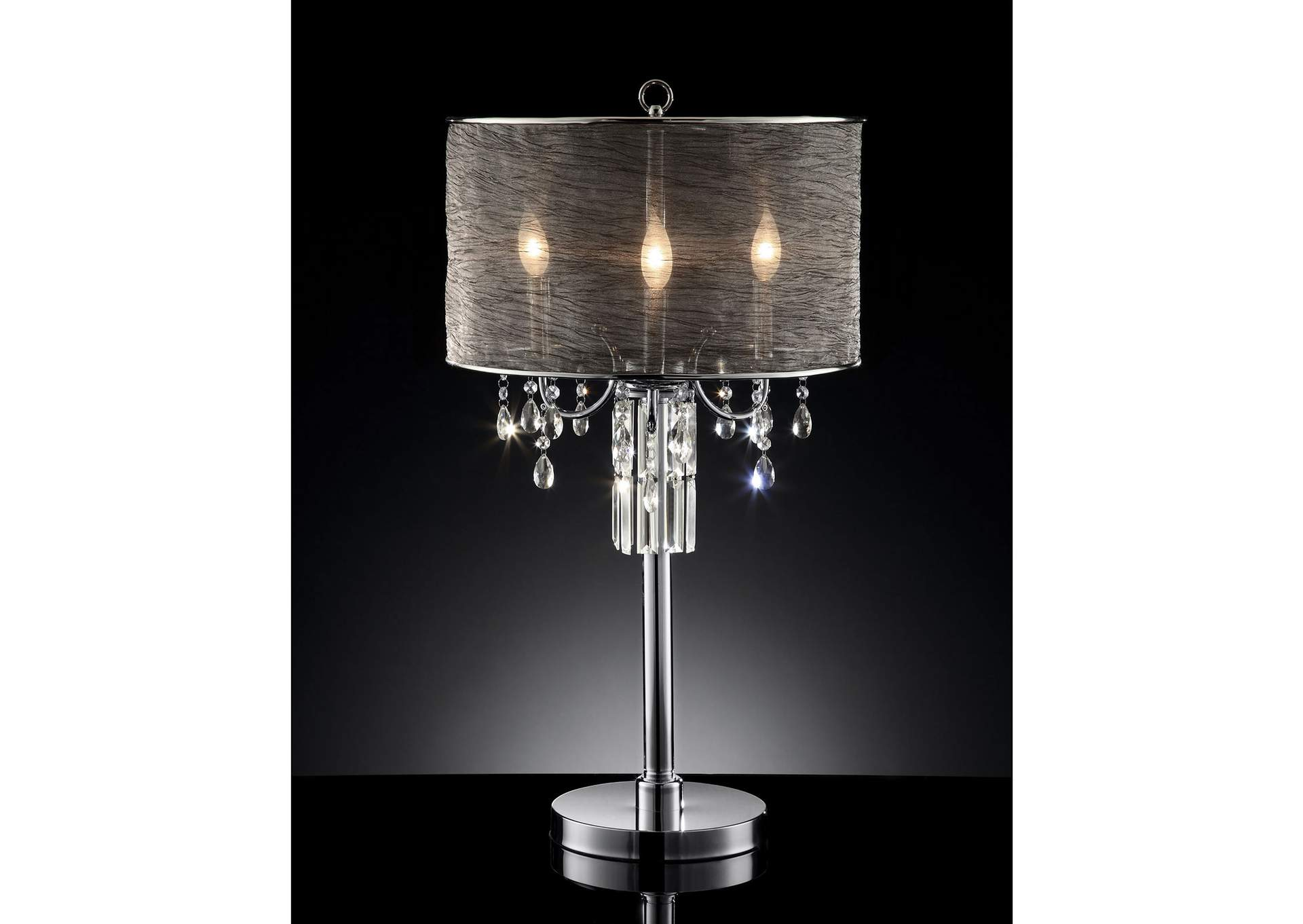 Gina Chrome Table Lamp,Furniture of America