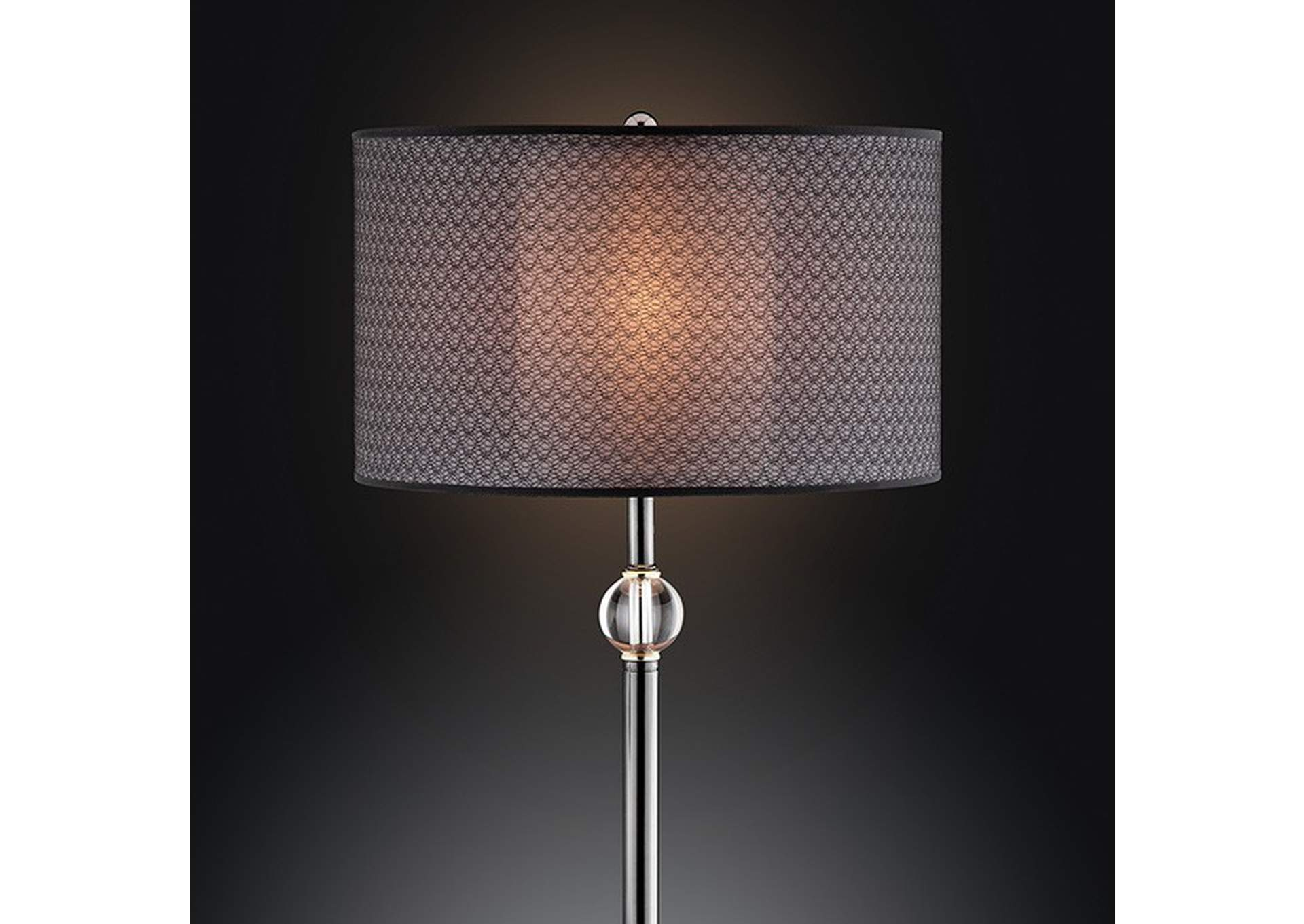 Magda Black Table Lamp,Furniture of America