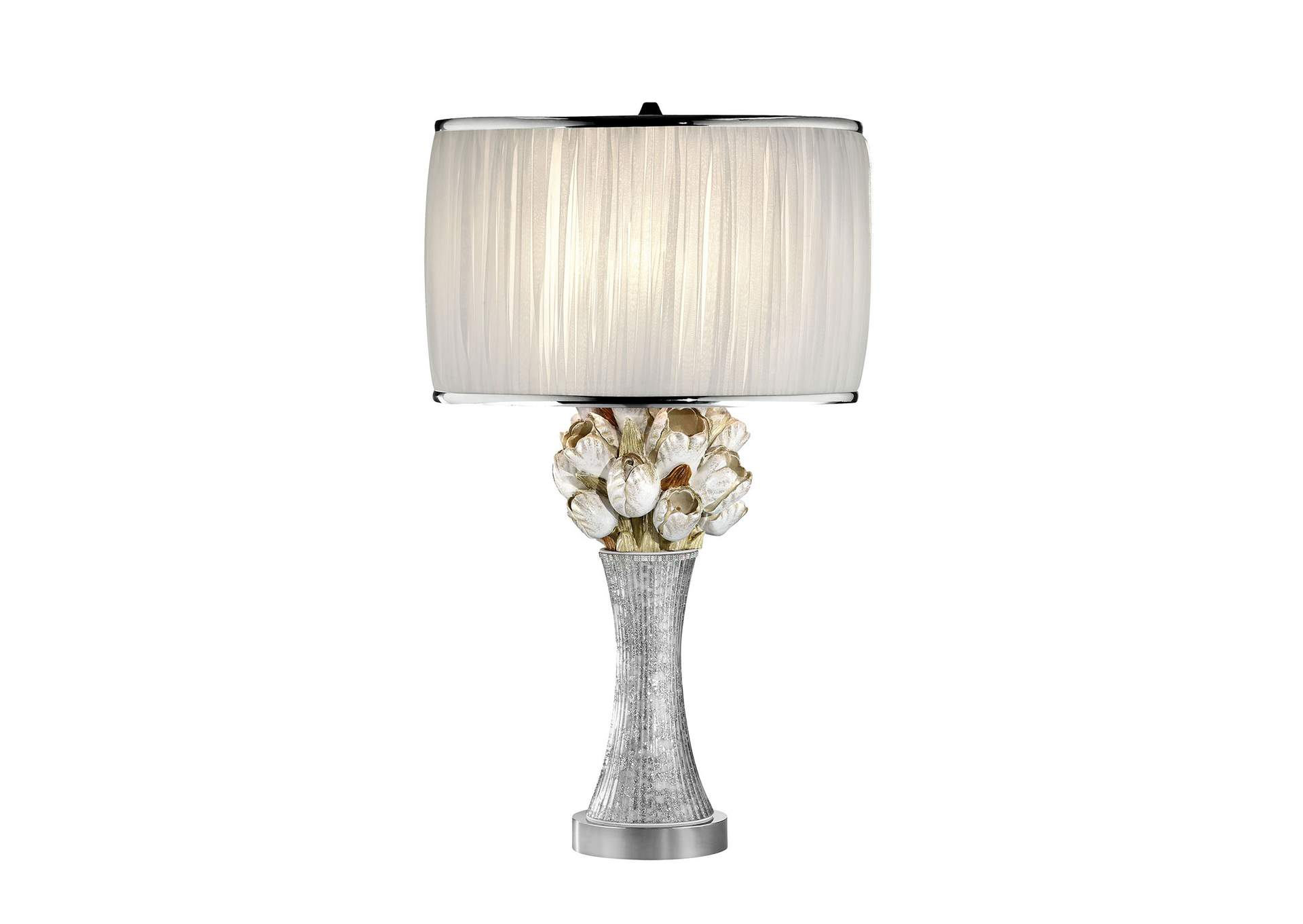 Simone White Table Lamp,Furniture of America