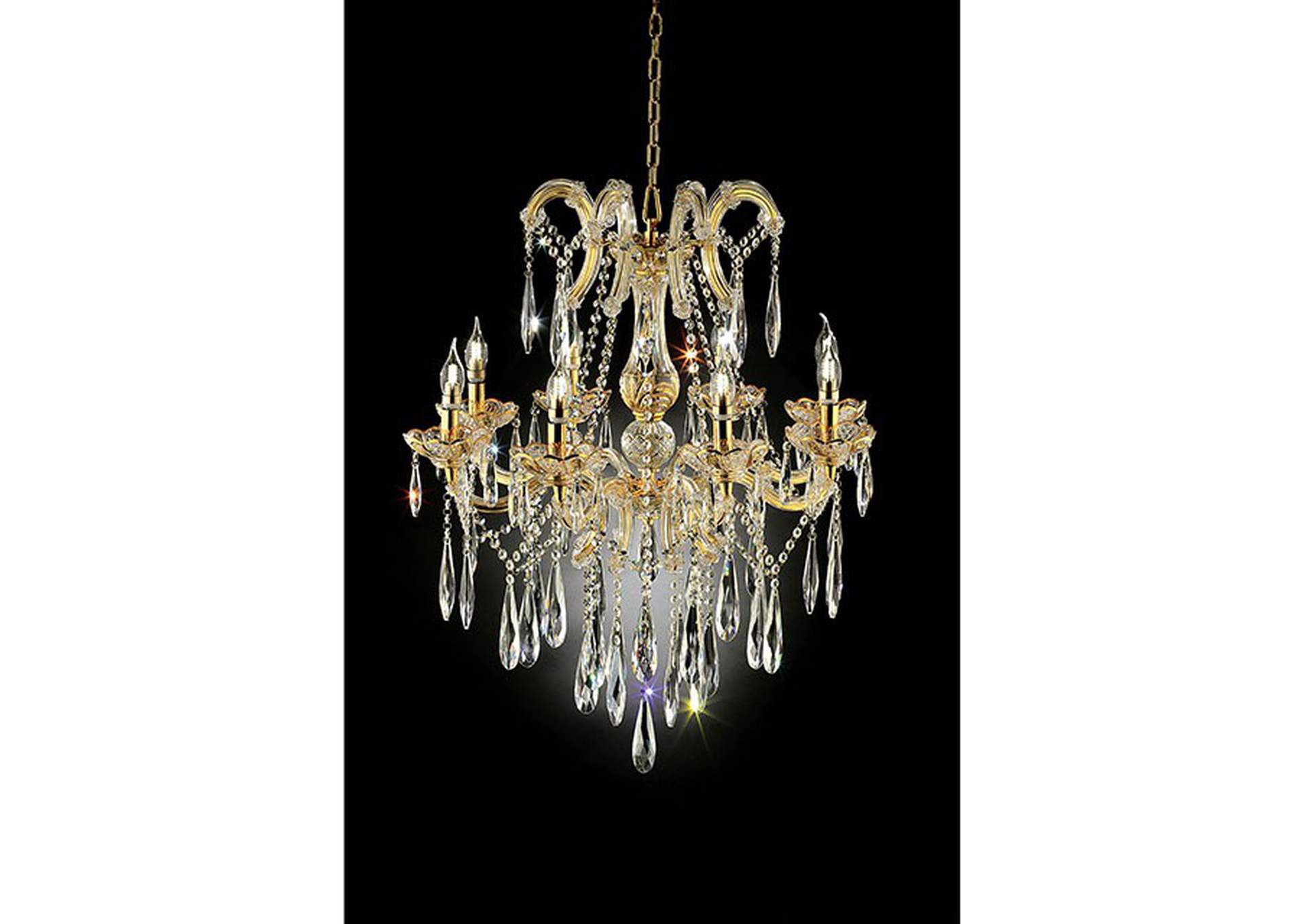 Christiana Gold Ceiling Lamp,Furniture of America