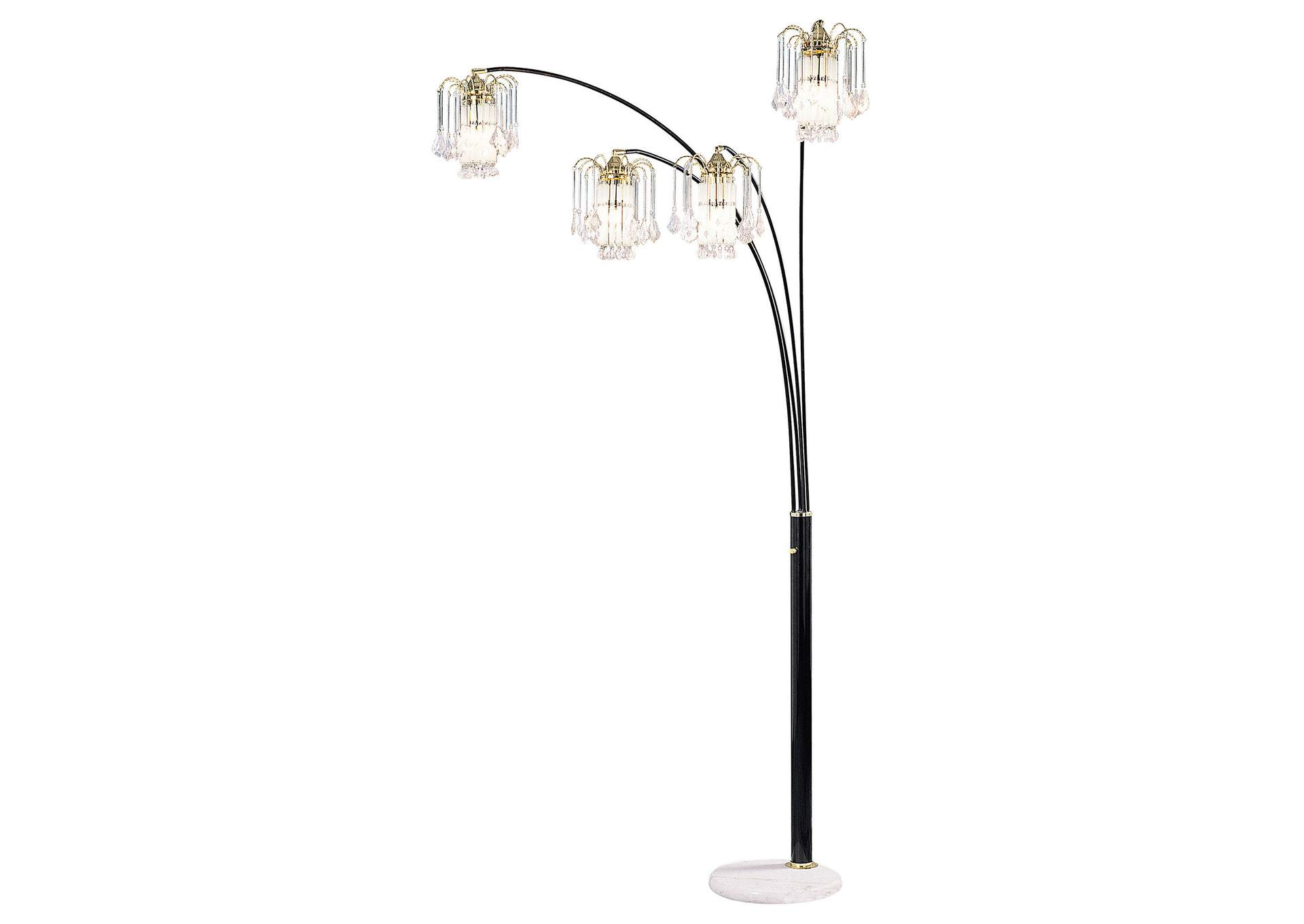 Elouise Black Arch Lamp,Furniture of America