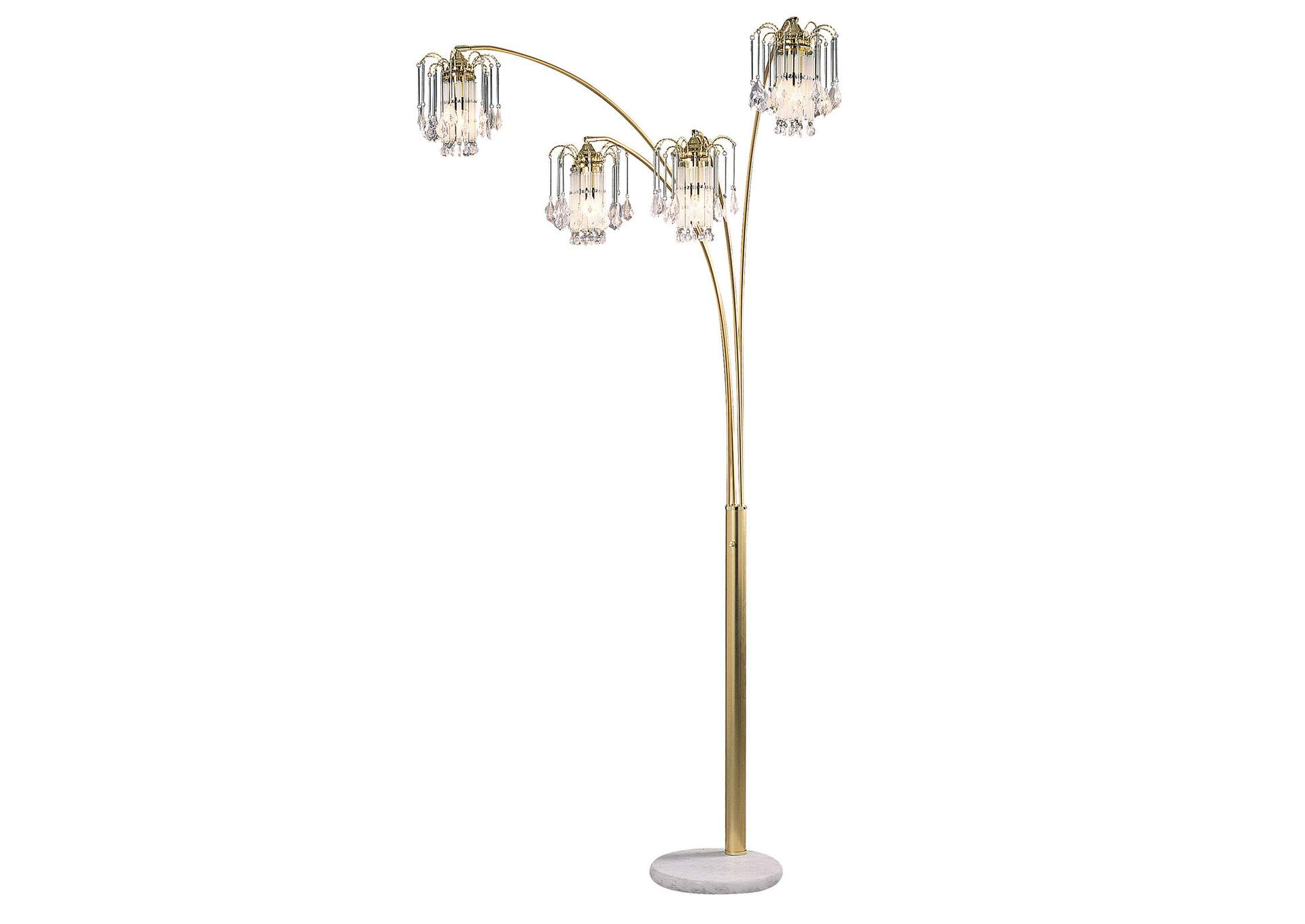 Elouise Sand Gold Arch Lamp,Furniture of America