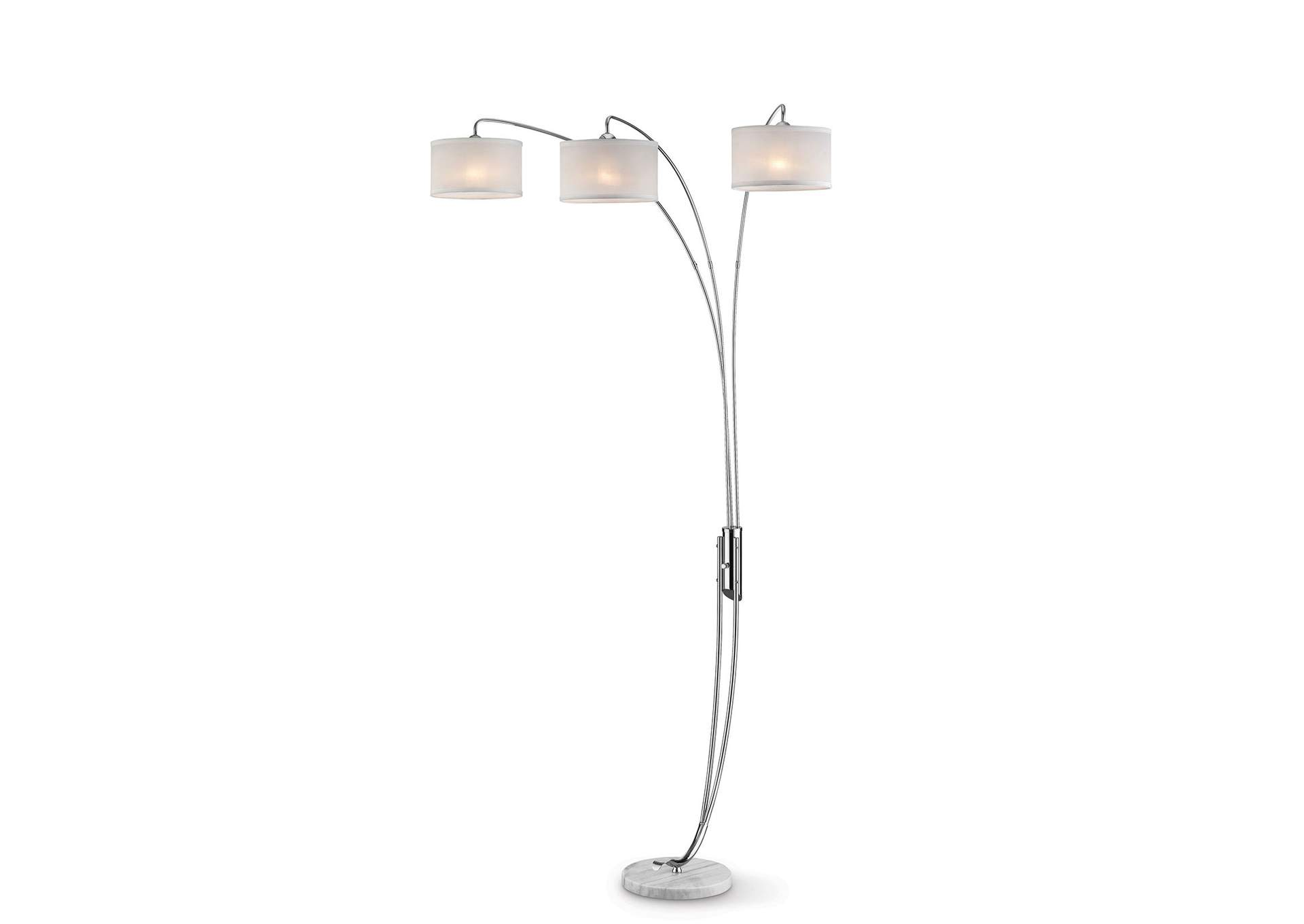 Leanne Off-White Arch Lamp,Furniture of America