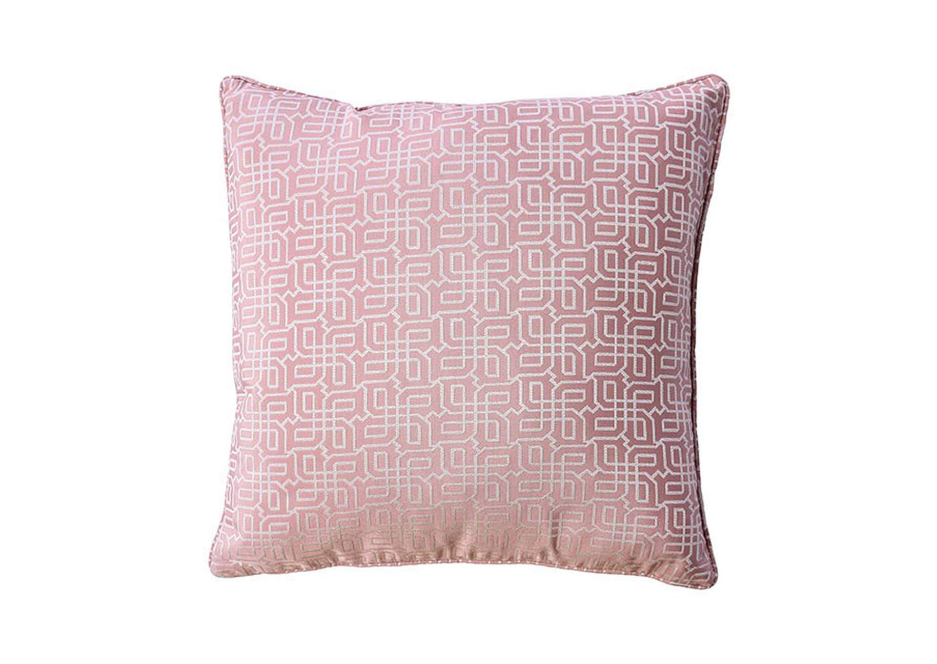 Rose Pink Throw Pillow (Set of 2),Furniture of America