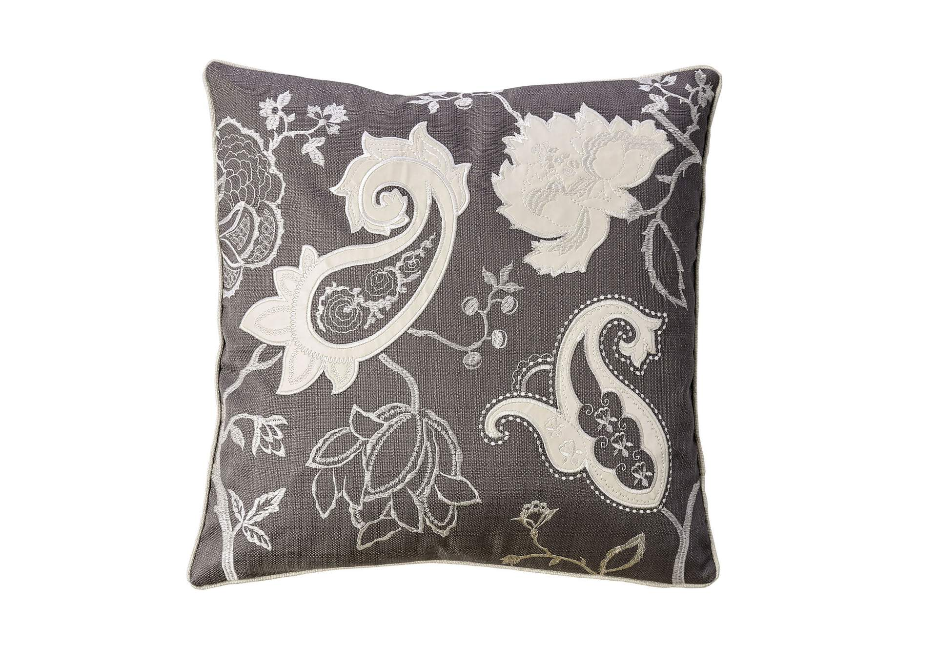 Nana Dark Gray Throw Pillow,Furniture of America