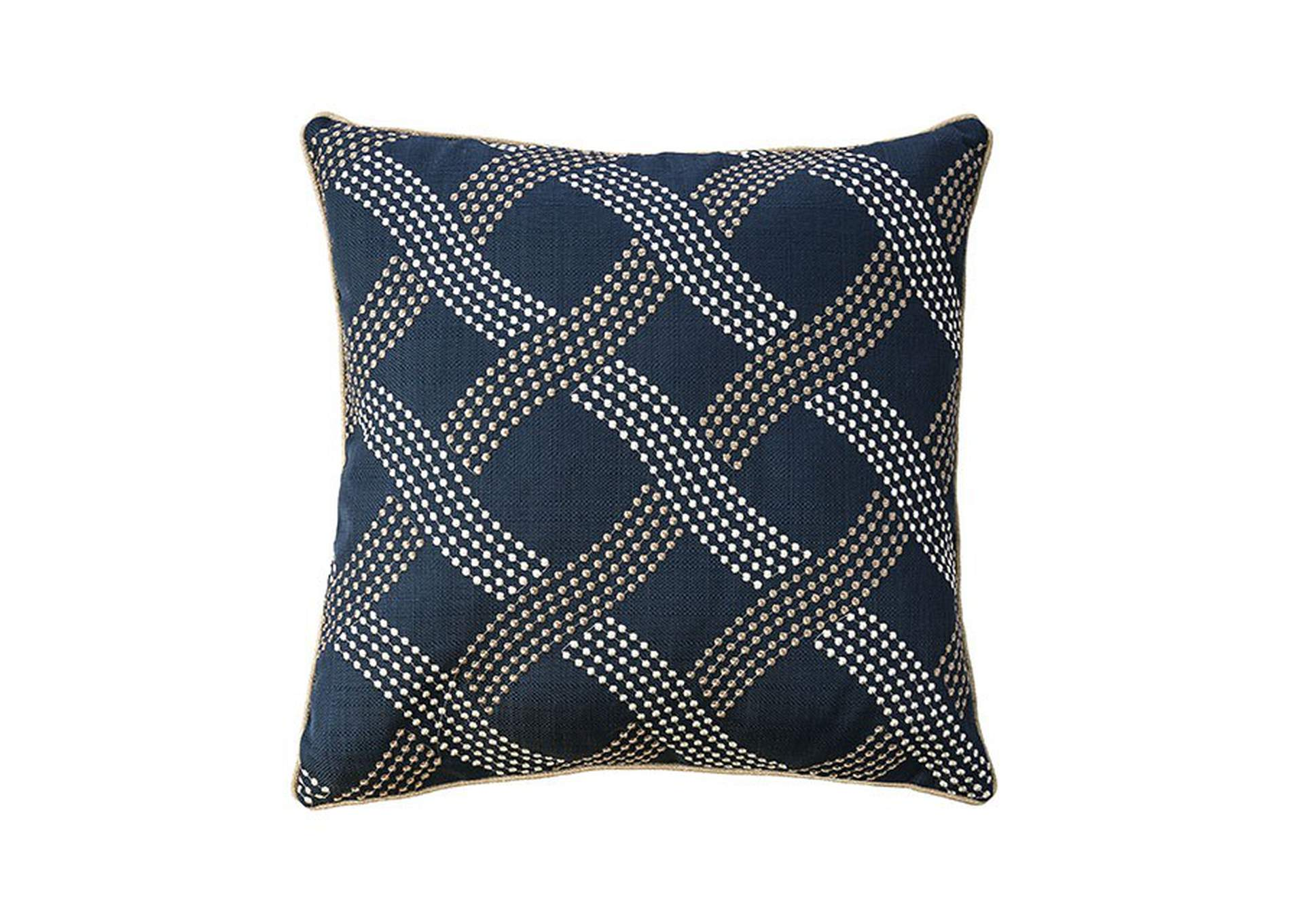Cici Navy Throw Pillow (Set of 2),Furniture of America