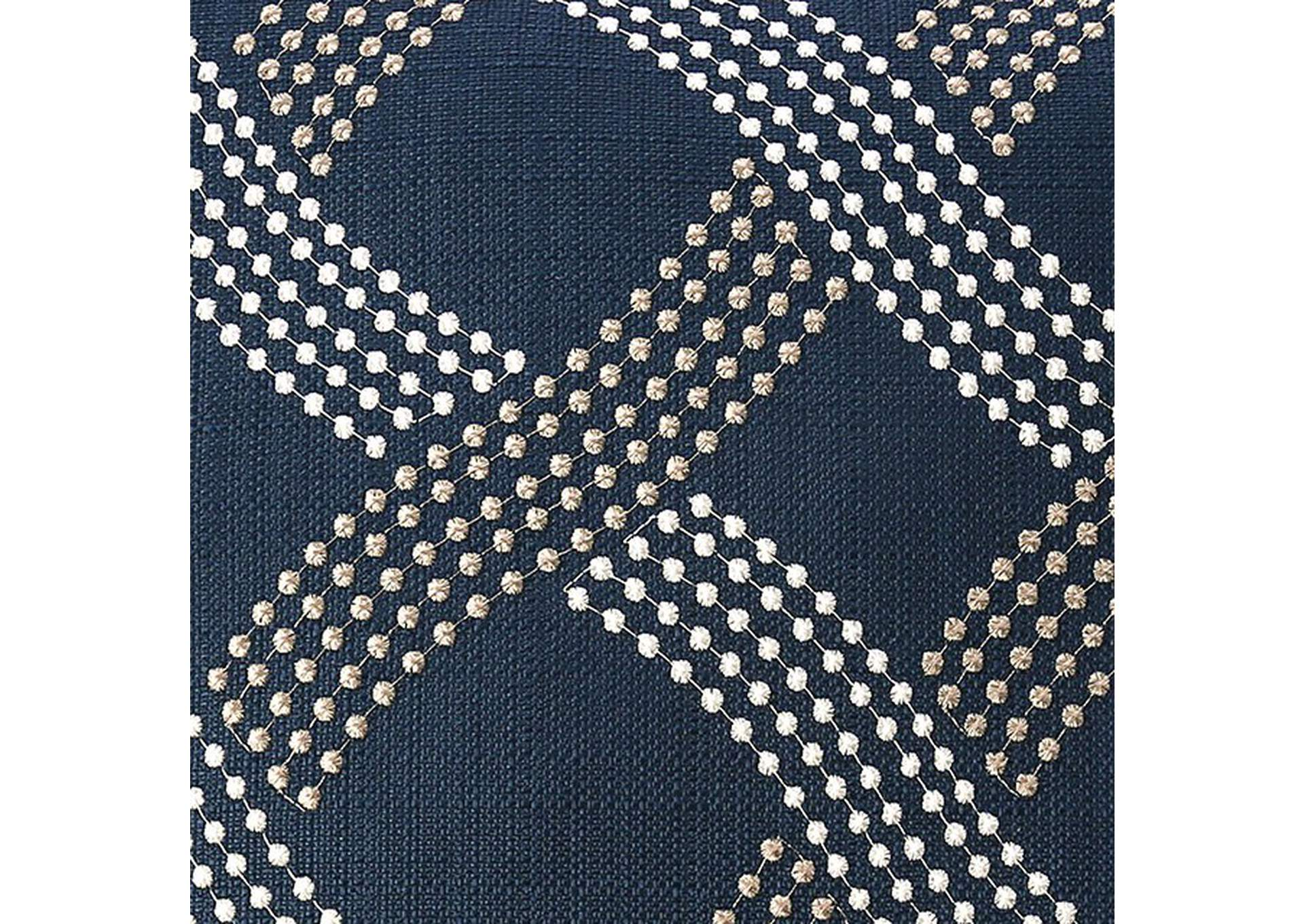 Cici Navy Throw Pillow,Furniture of America