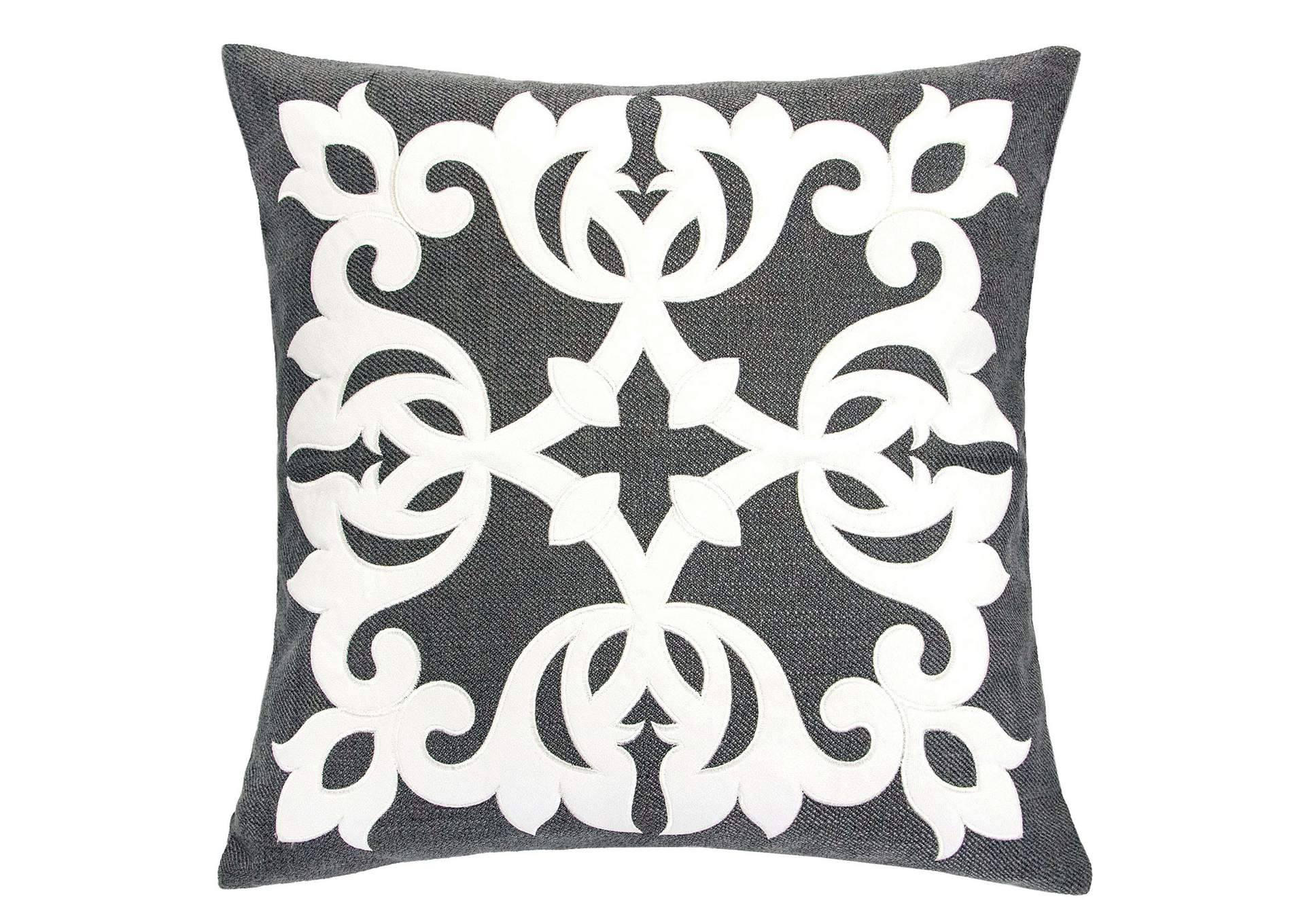 Trudy Dark Gray Accent Pillow (Set of 2),Furniture of America