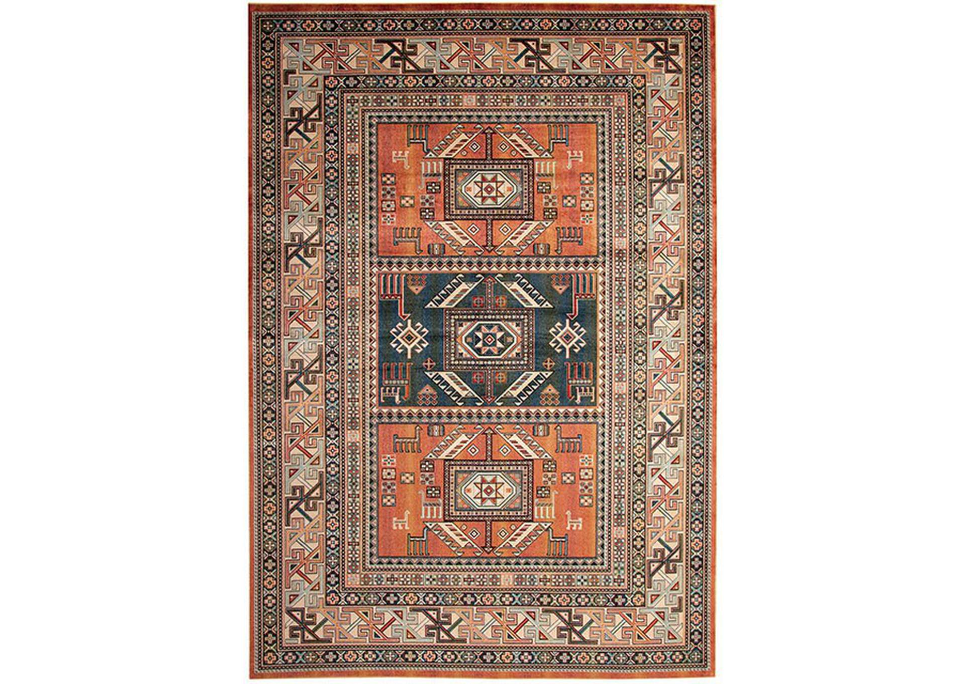 Mortsel Orange Area Rug,Furniture of America